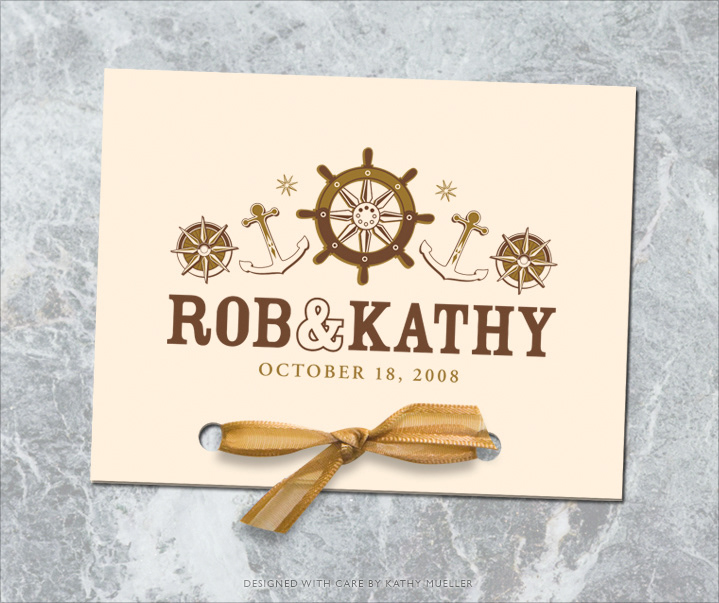 Kathy Mueller Nautical Wedding Invite Suite