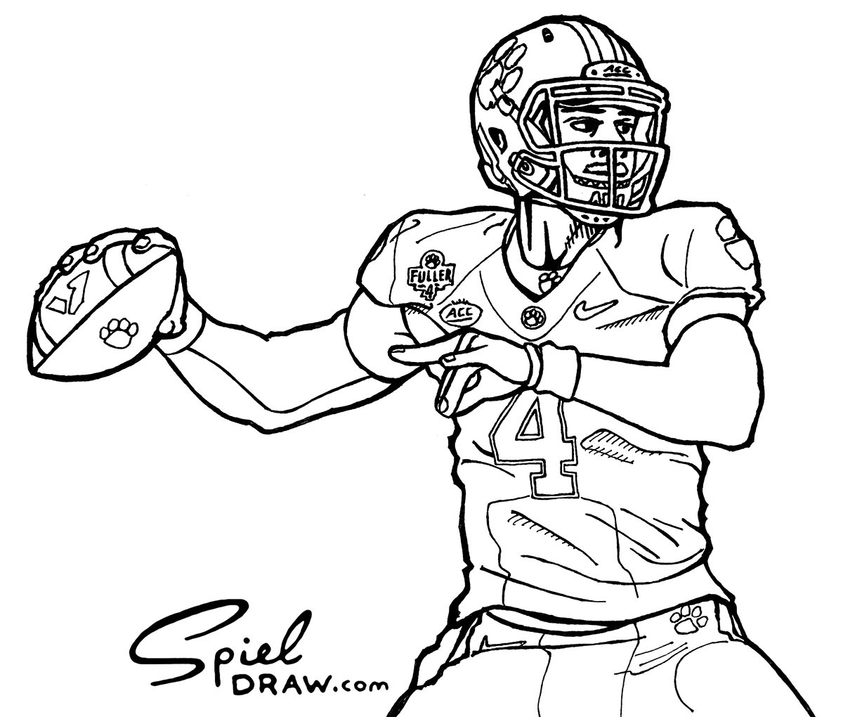clemson football coloring pages | Clemson Coloring Pages Coloring Pages