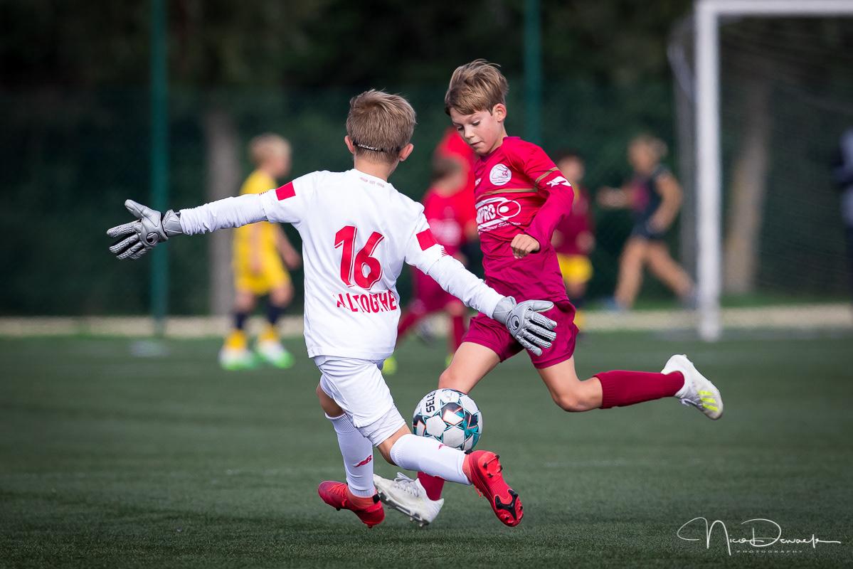 Nico Dewaele - U11 SV Zulte Waregem - Standard de Liège (29 aug. 2020)