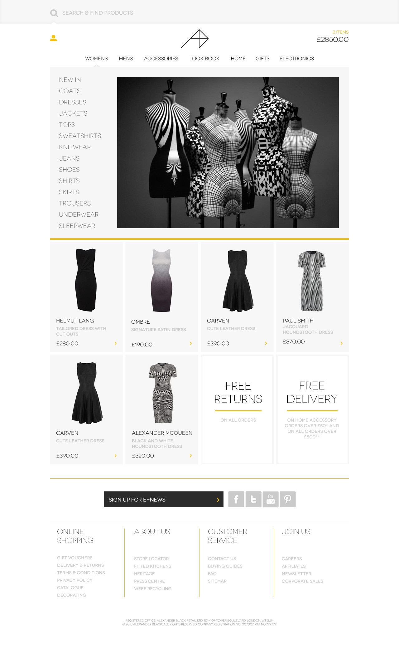 Web design illustration by john melven alexander black blueprint responsive demo site blueprint for bt expedite to demo the fresca commerce platform fcp ecommerce toolplatform copyright bt expedite malvernweather Choice Image
