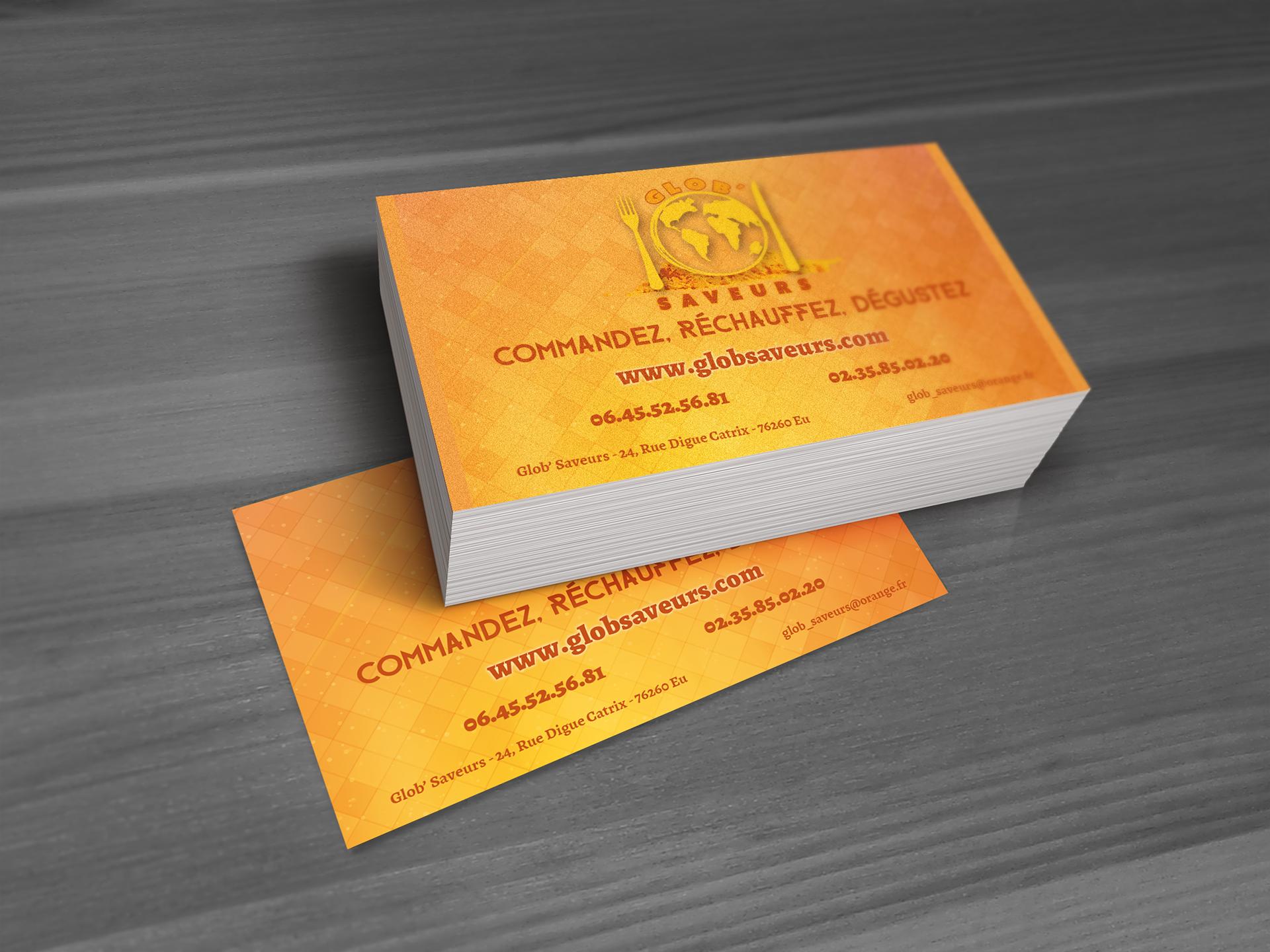 Realisation De Carte Visite Pour Une Entreprise Preparation Repas Par Correspondance