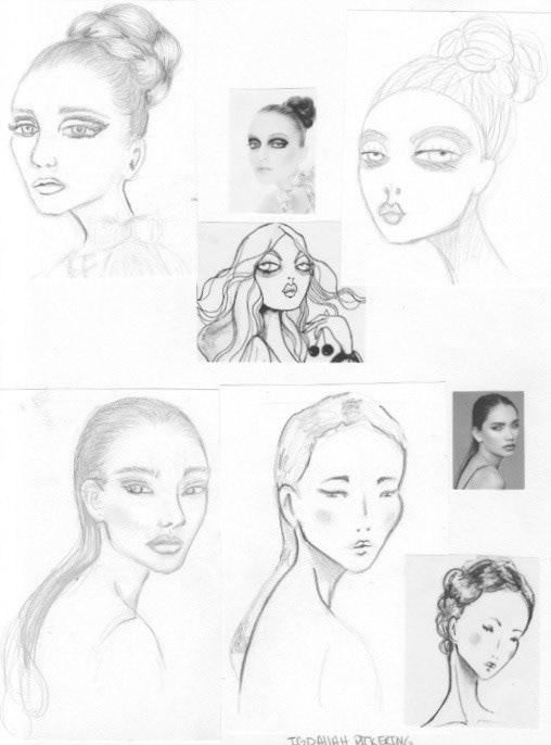 igdaliah pickering stylized croquis faces
