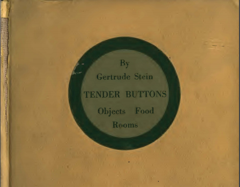 tender buttons analysis
