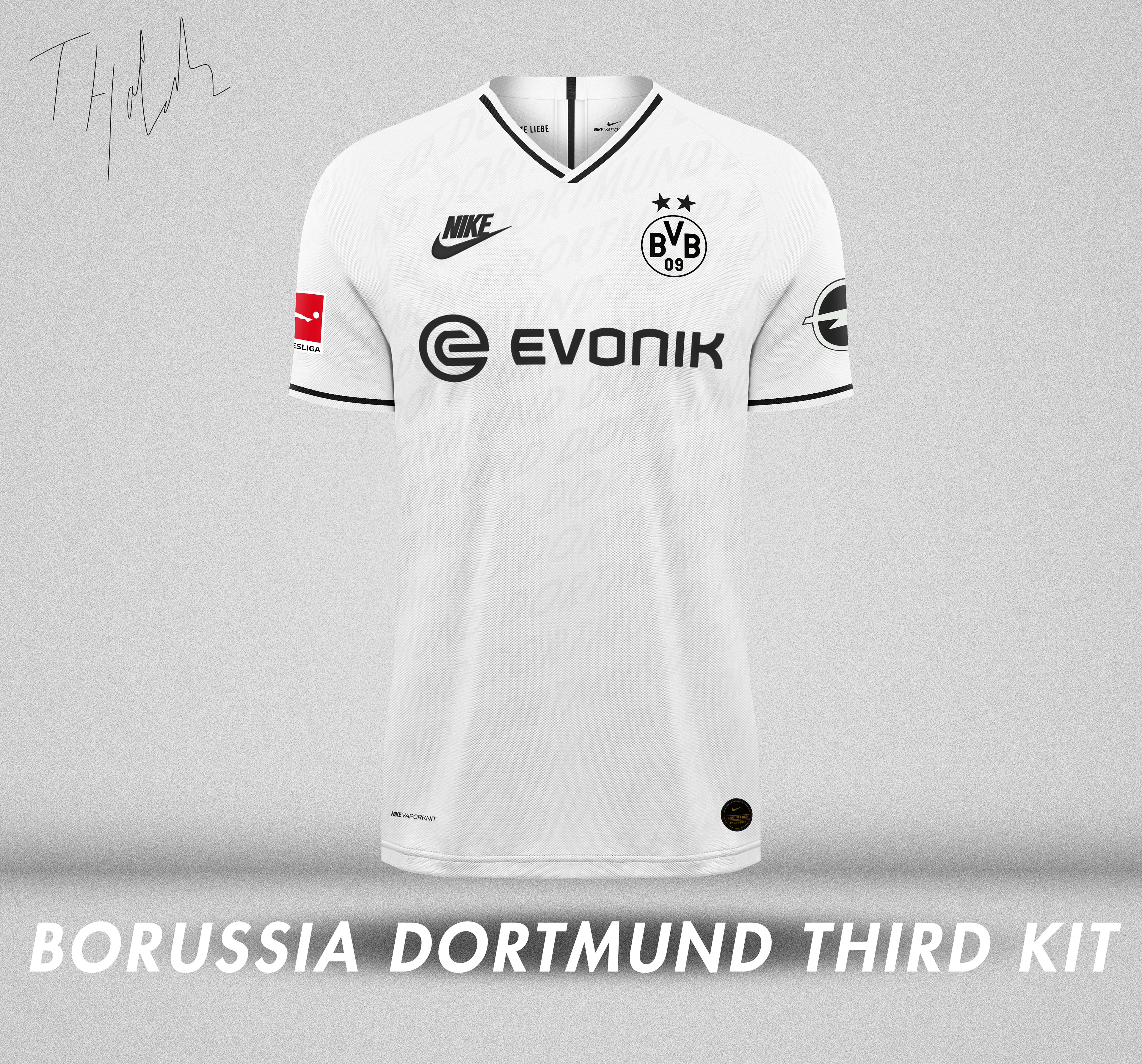 lana Cabina Embajador  Tiarnan Hatchell - Nike x Borussia Dortmund Kit Concept