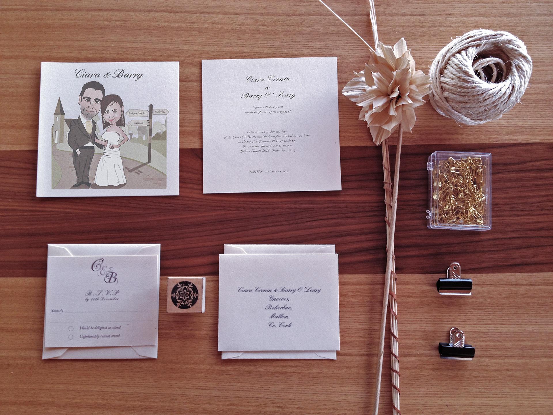 sarah healy custom wedding invitations