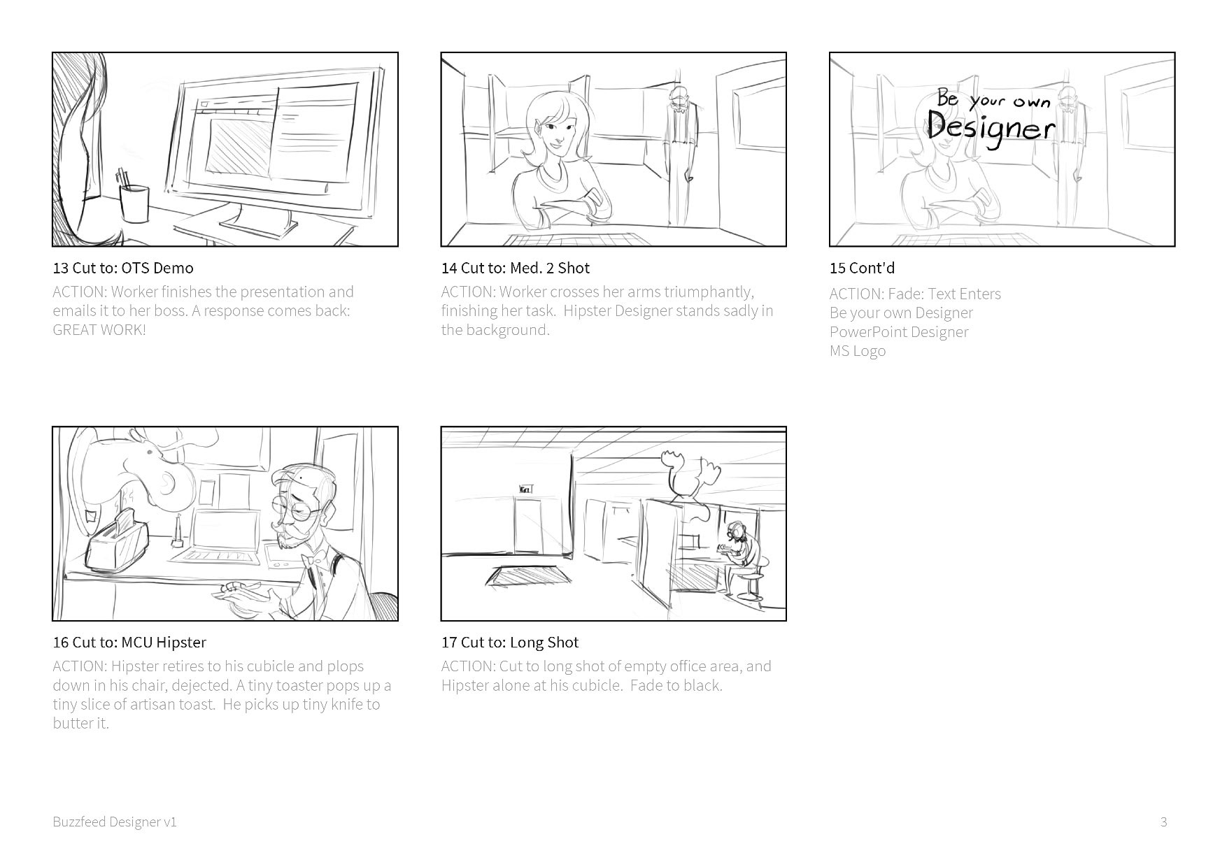 Storyboards For Marketing Video PowerPoint Designer