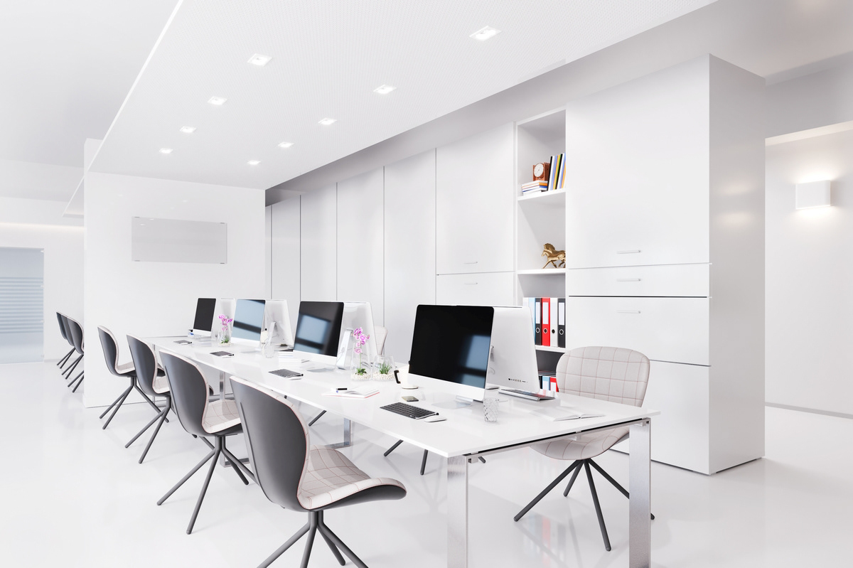 Dny3d Portfolio Bright Office Space With Long Table