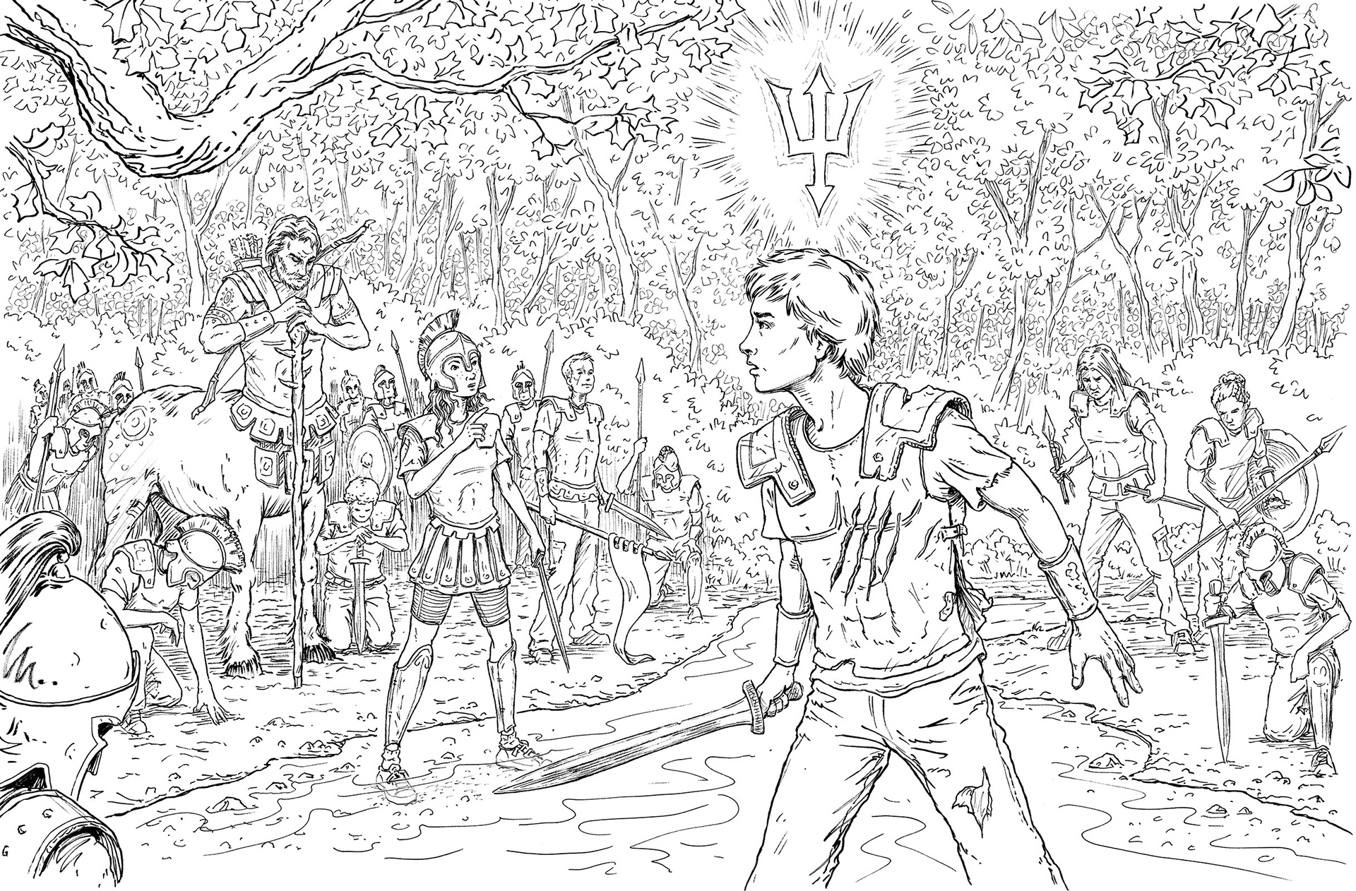 The Percy Jackson Colouring Book