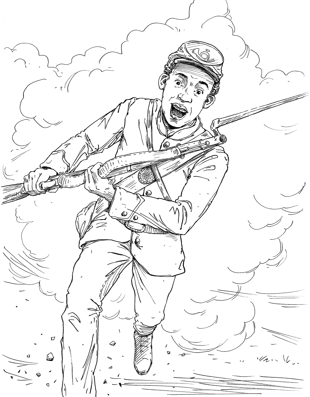 Keith Robinson Illustration The Magnus Chase Coloring Book