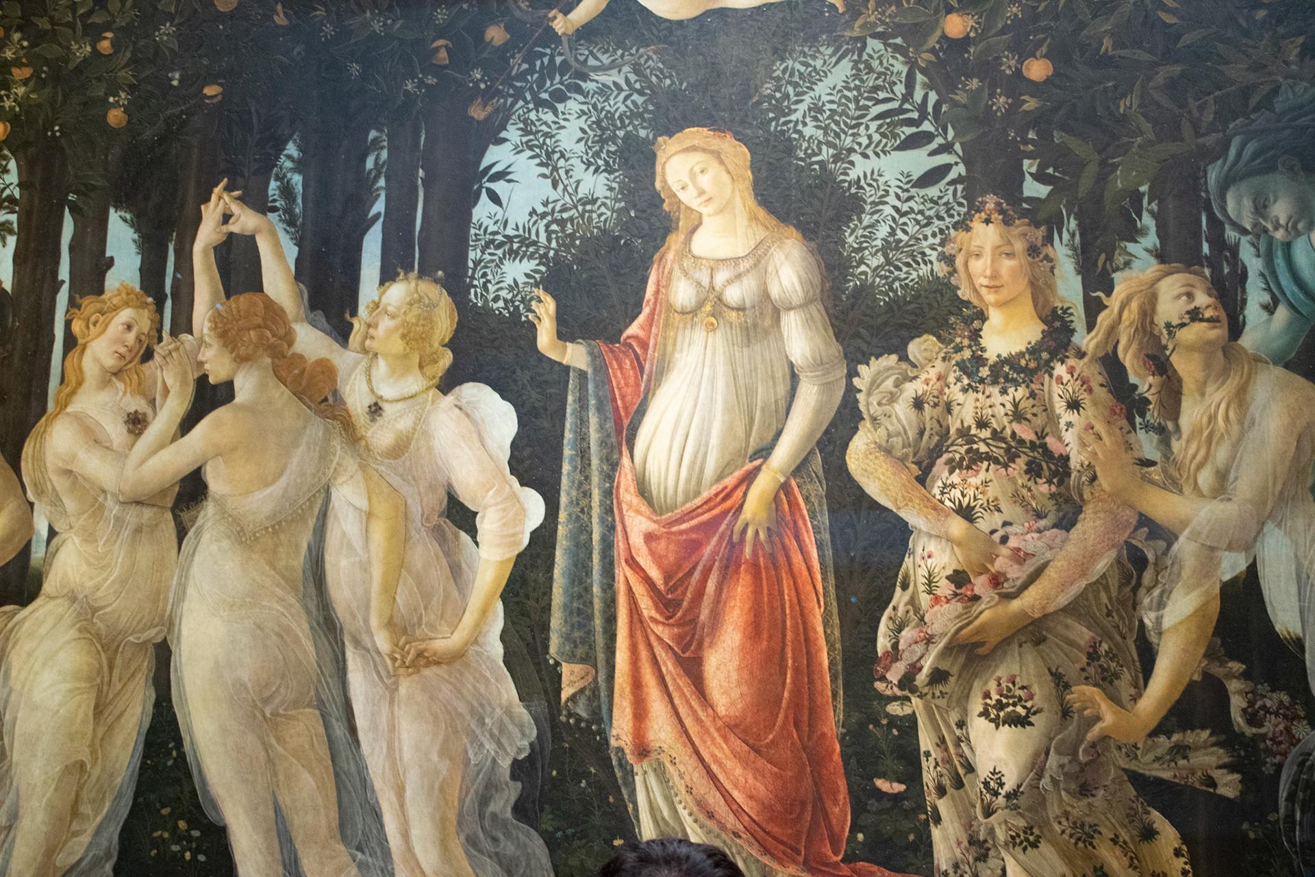 боттичелли весна картина в высоком качестве измененные ткани