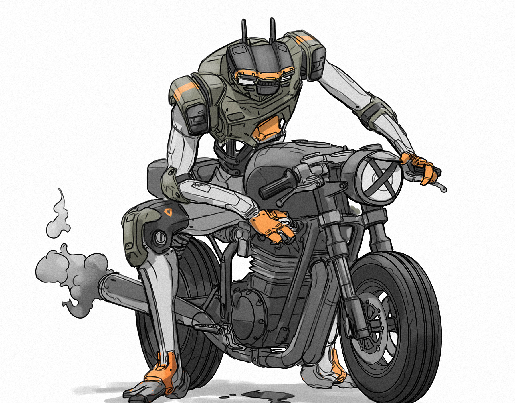 робот на мотоцикле картинки квартиры сутки