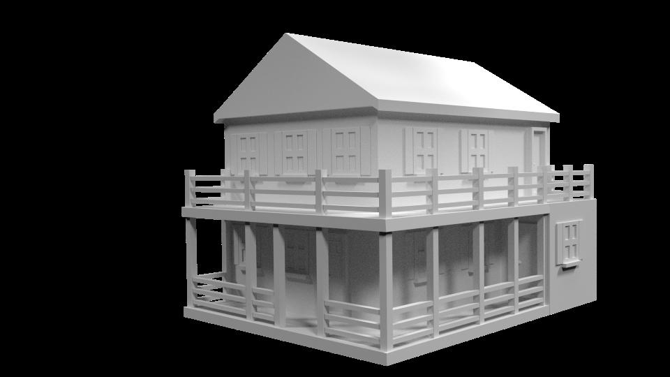 Jennifer Abbott 3d Farm House Model