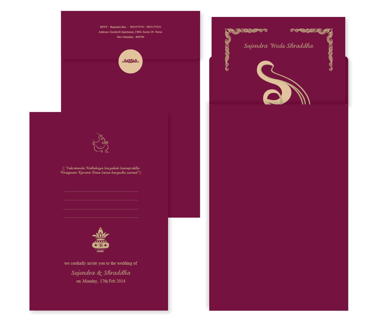 Nivedita Mukherjee Wedding Card Design Sujendra Weds Shraddha