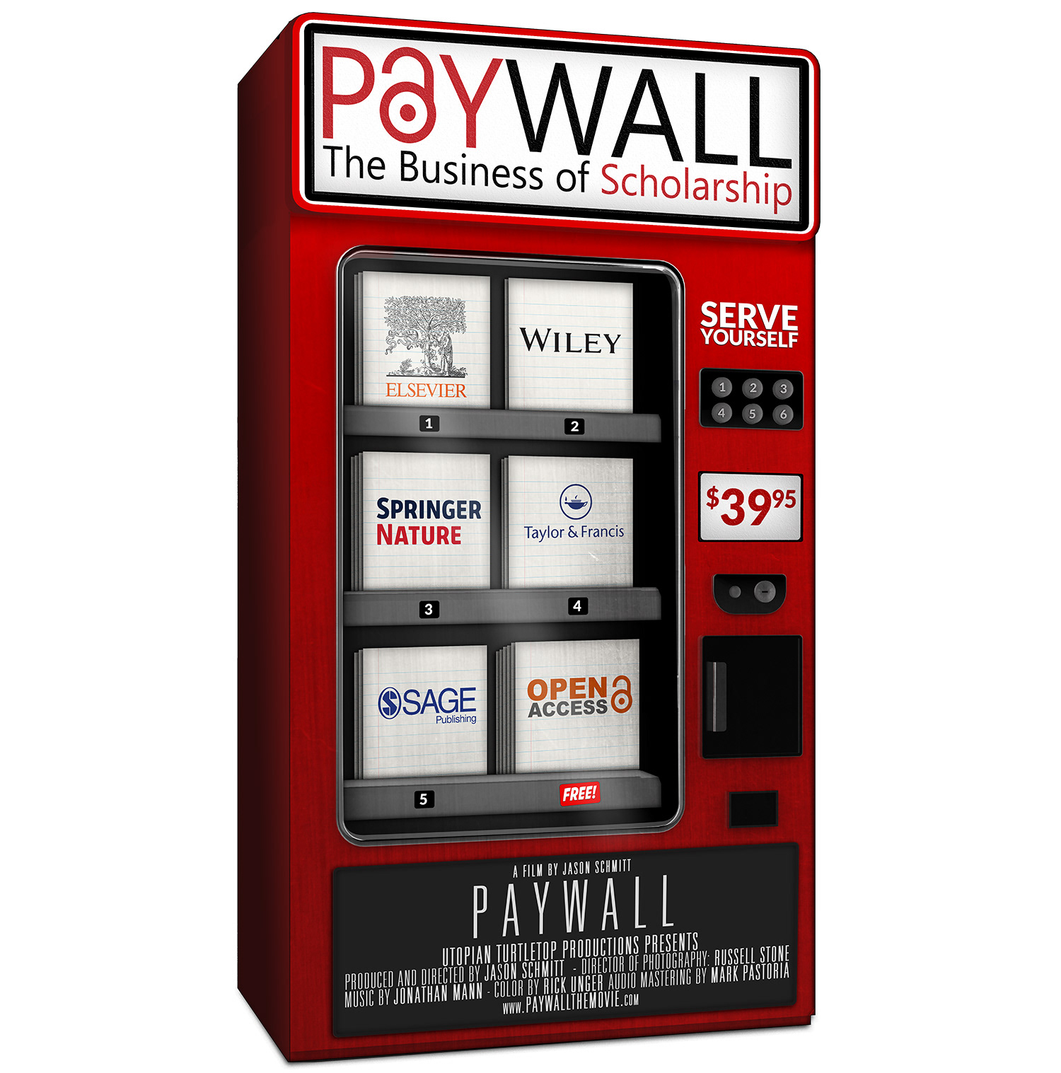 Image of vending machine of scholarly articles charging $39.95 each