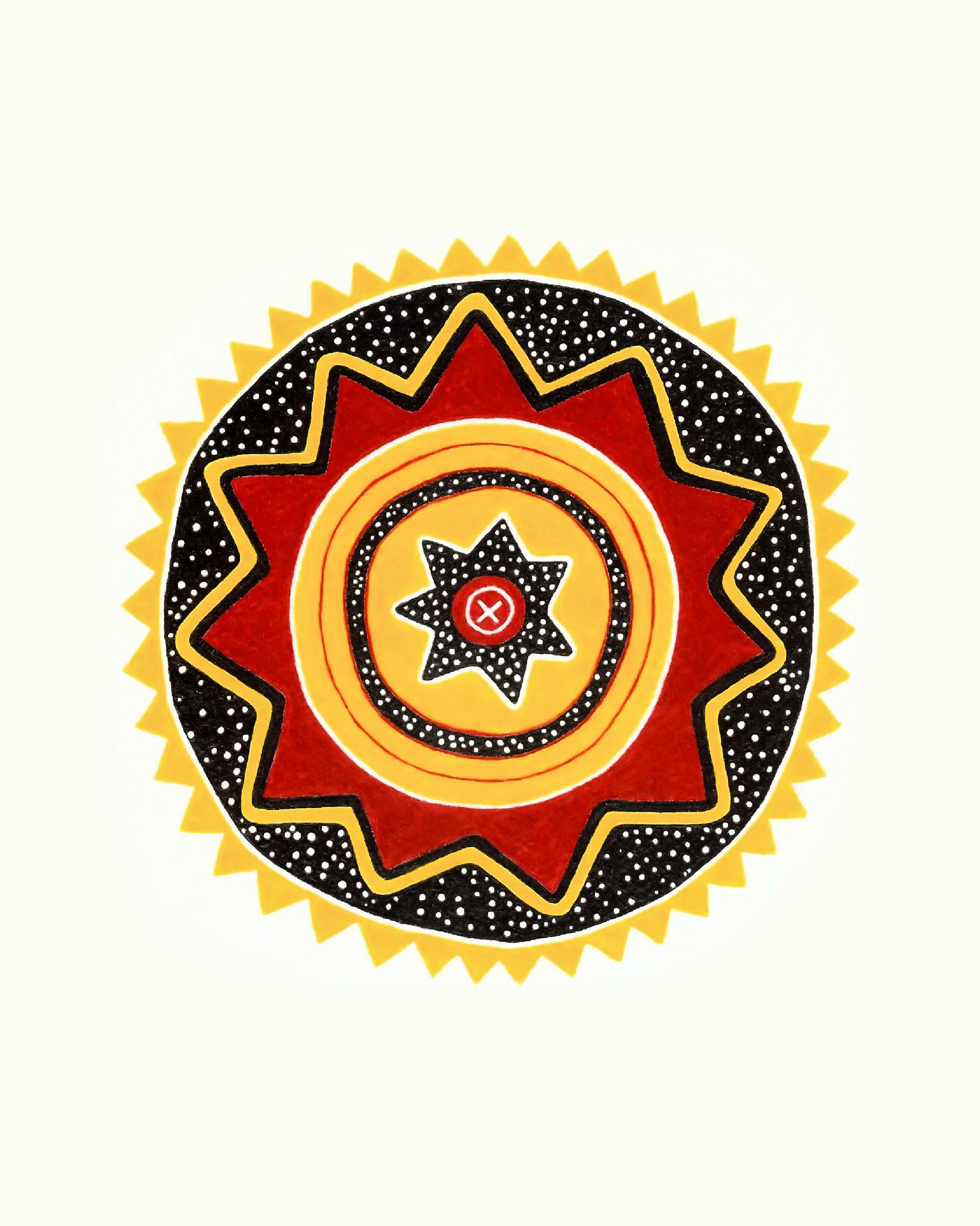 Steven Sherlin Art Chumash Indian Design