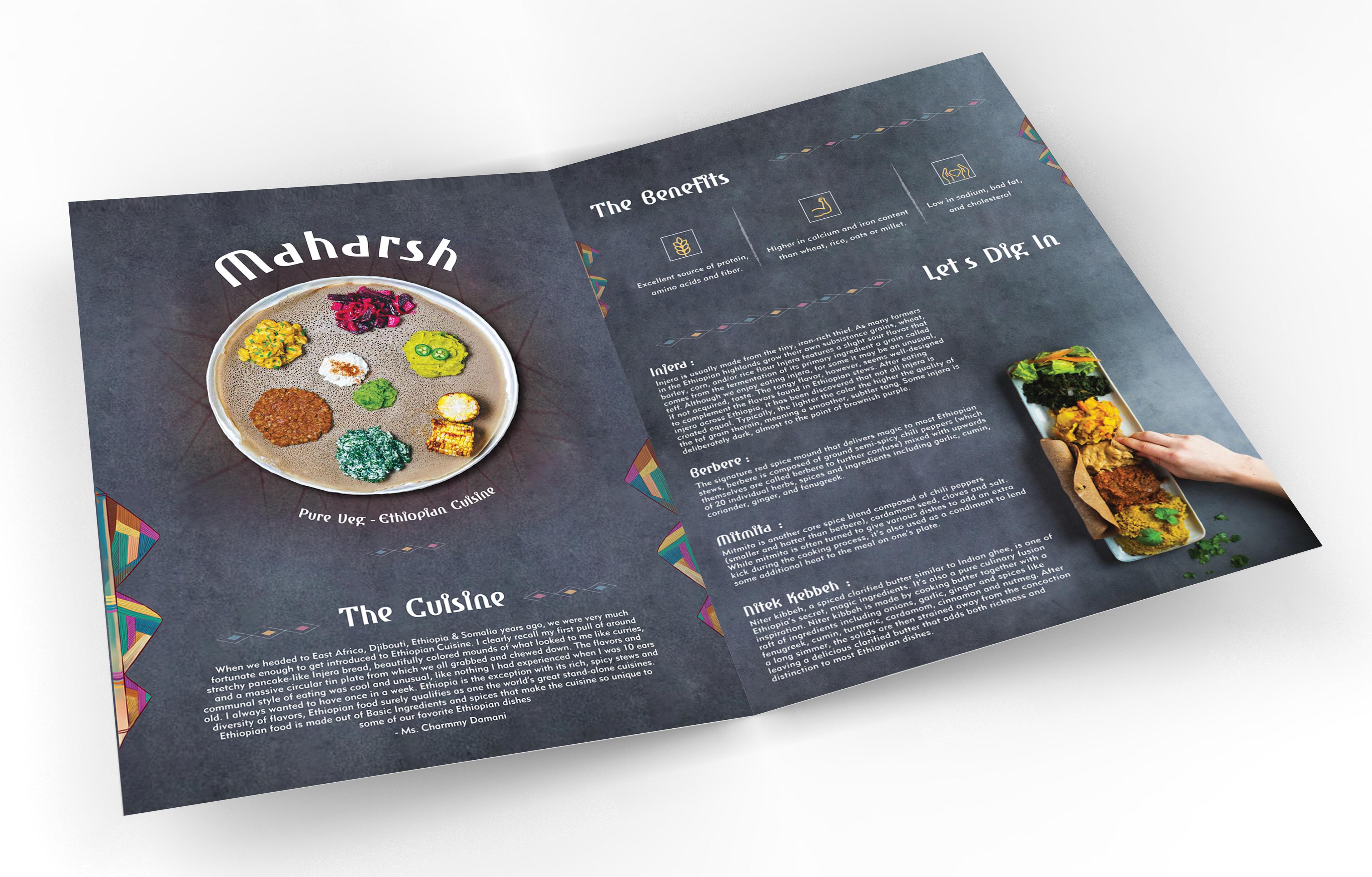 BASE 501 - Maharsh Brochure - Ethiopian Cuisine