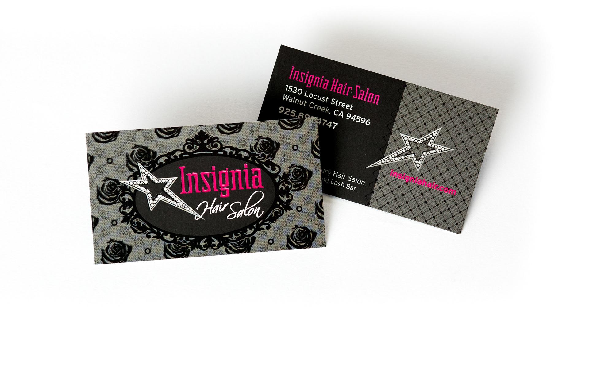 Lani Schreibstein Visual Designer Insignia Hair Salon Business Card