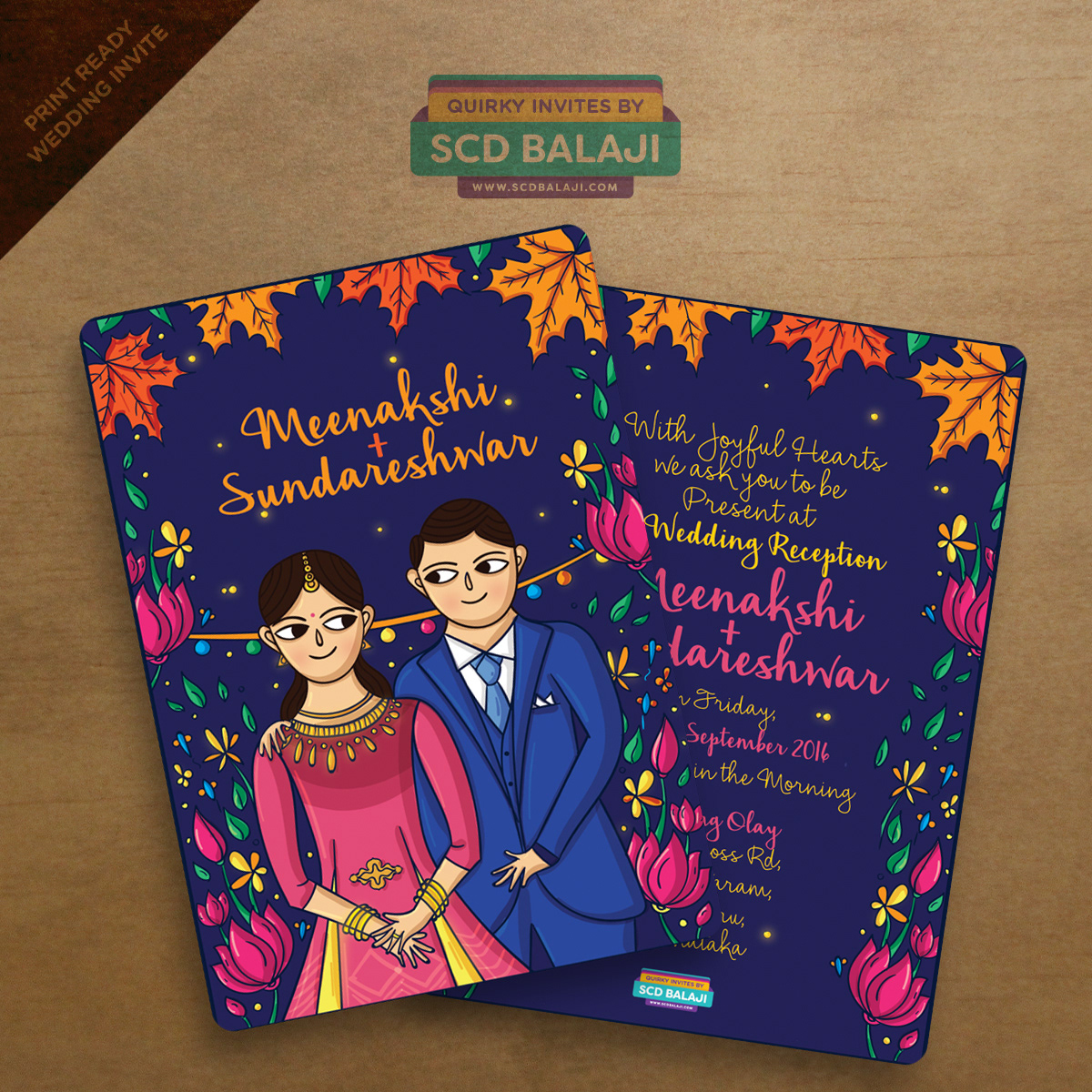 Quirky Wedding Invitation: Quirky Indian Wedding Invitations