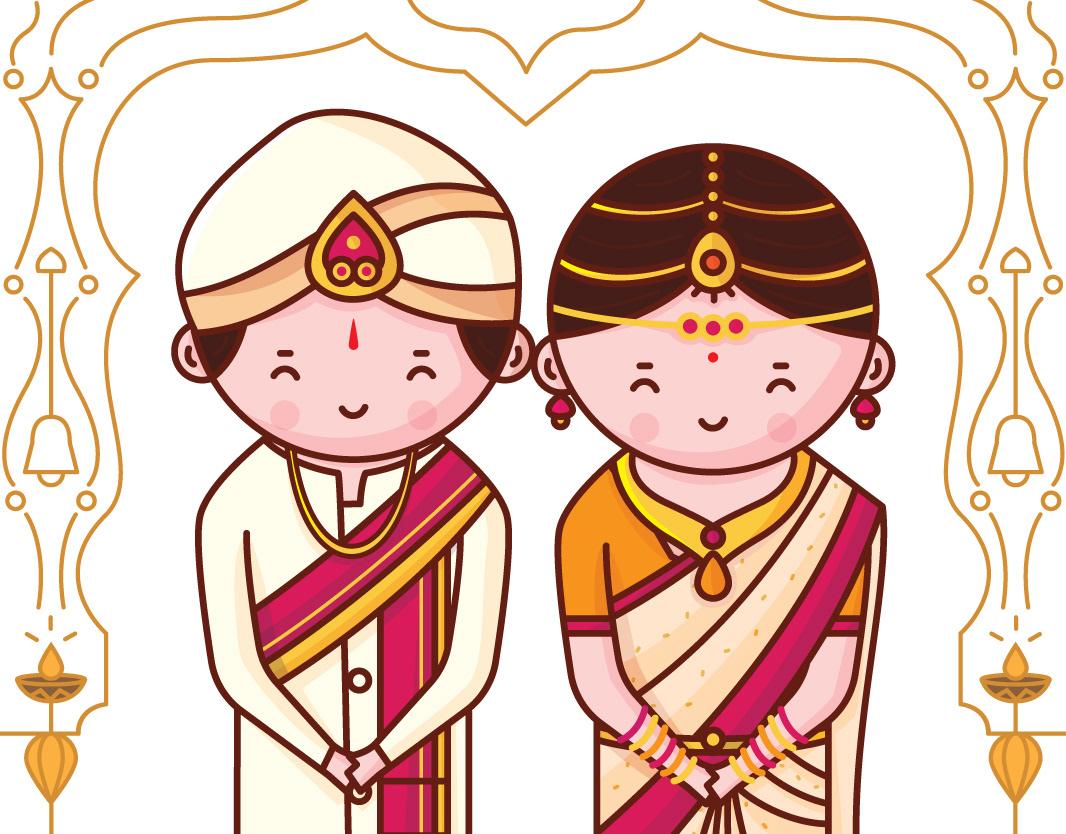 Quirky Indian Wedding Invitations Kannada Cute Couple