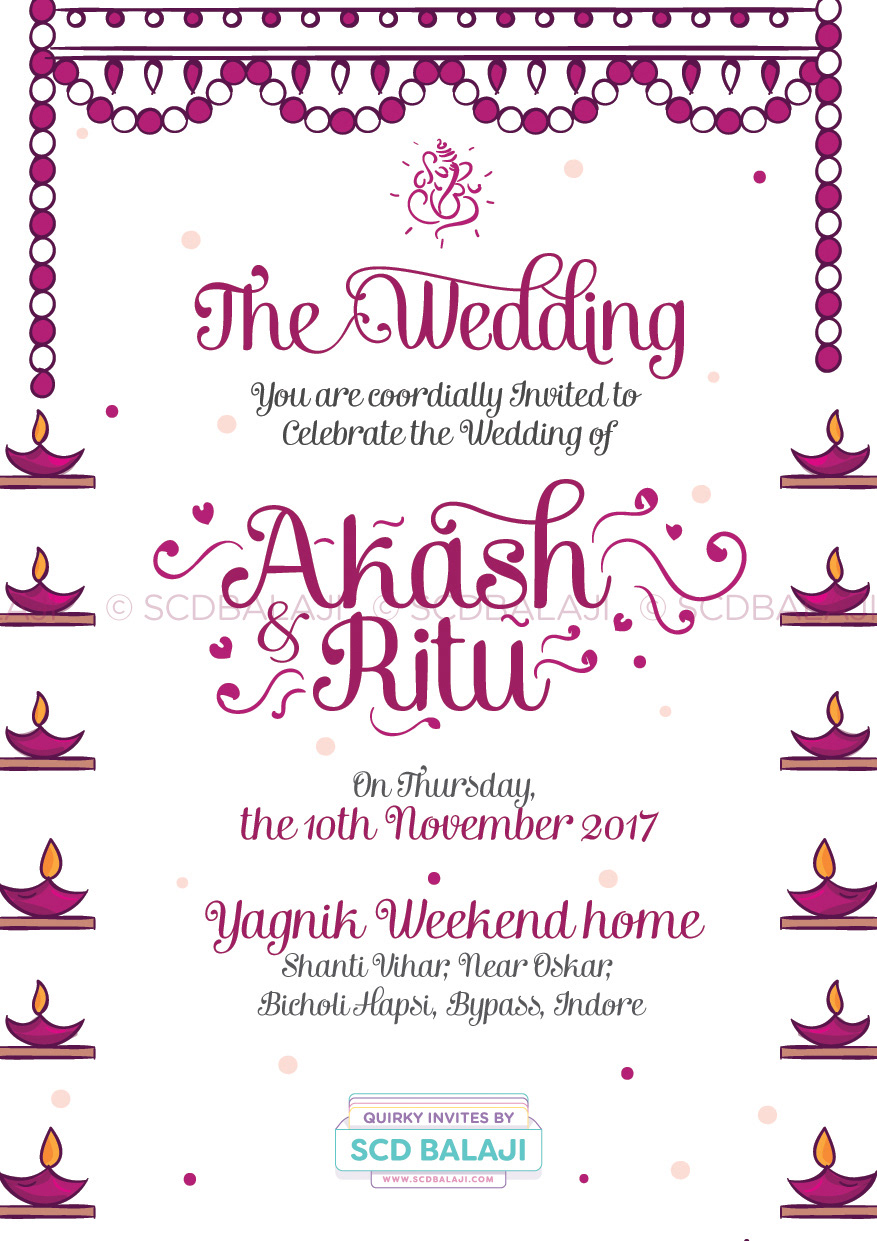 Scd Balaji Quirky Creative Indian Wedding Invitations