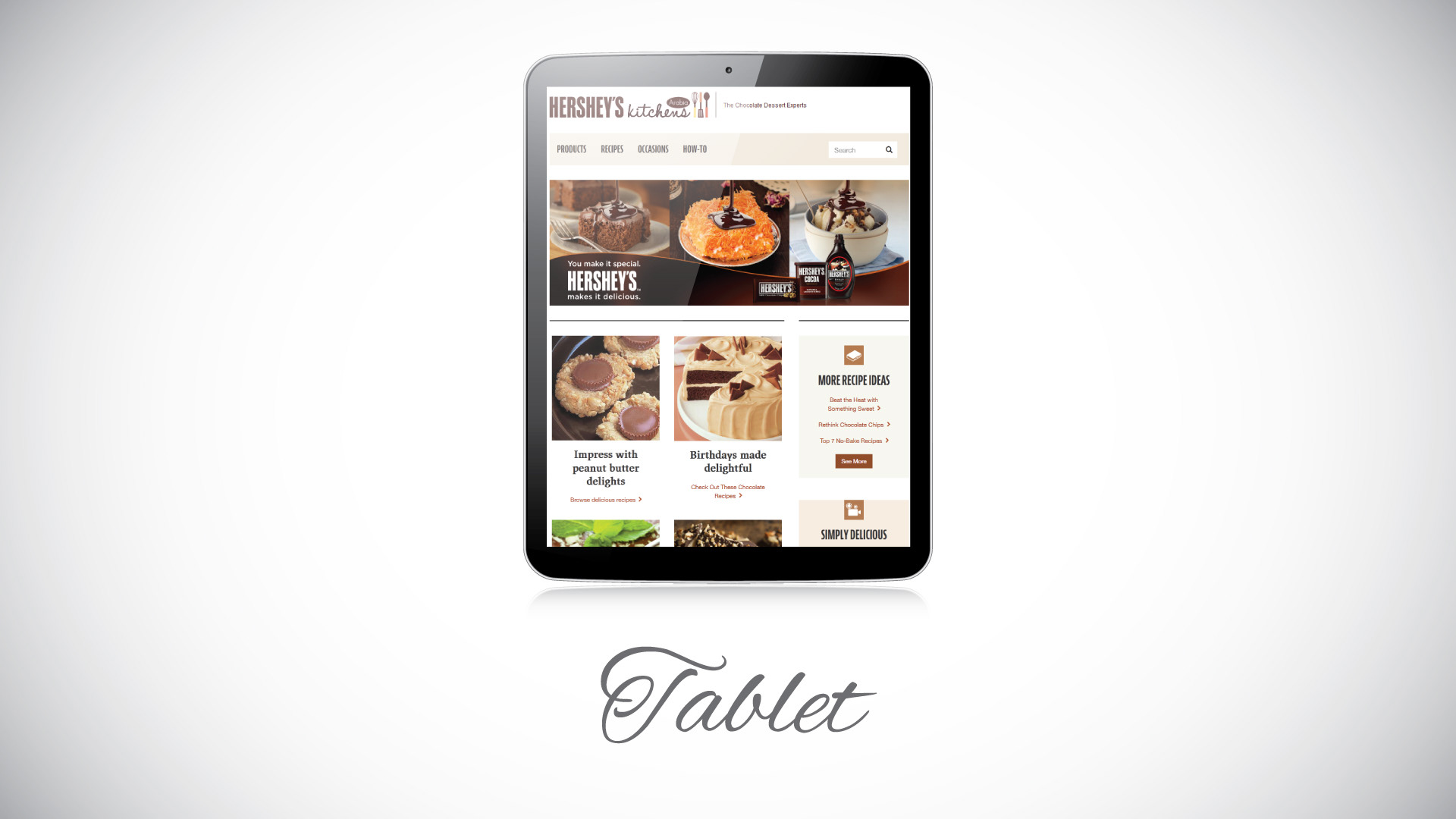 Saleem Ahmed - HERSHEY\'S Kitchen Arabia website Design