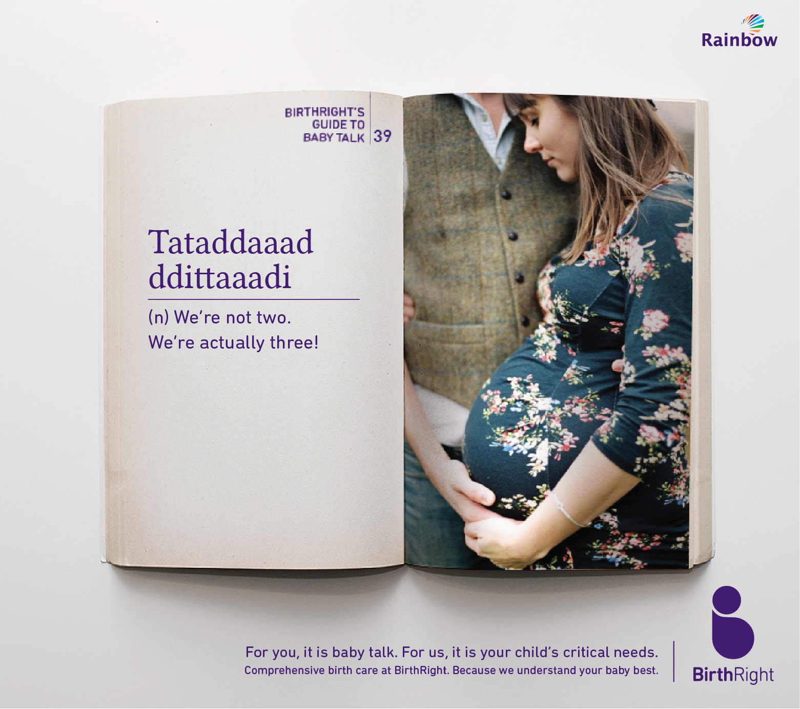 a446ffe94577 This campaign I visualised as a dictionary of baby talk. A doctor s guide  to baby talk and how a good doctor can interpret baby talk and actions to  figure ...