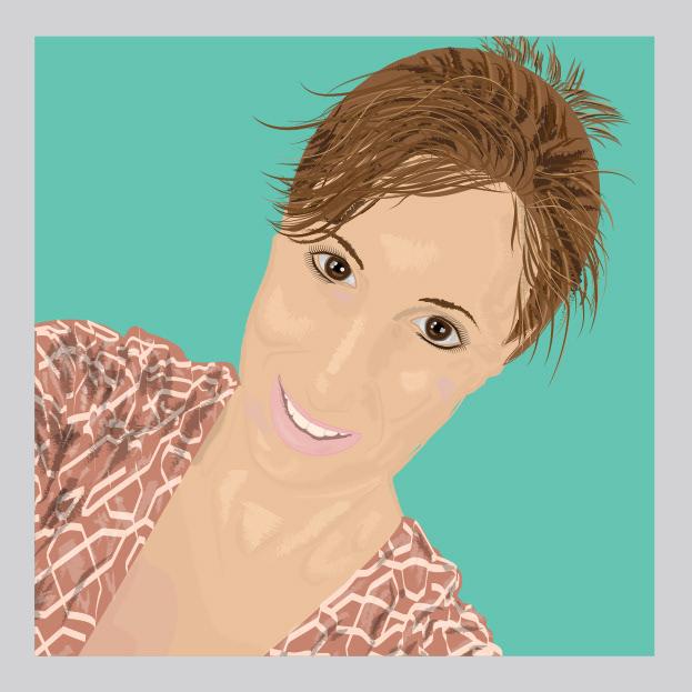 Gina Mercuro - self-portrait