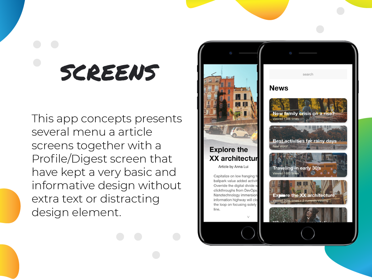 Graphic Designer Sara Galova - Portfolio - News App Design