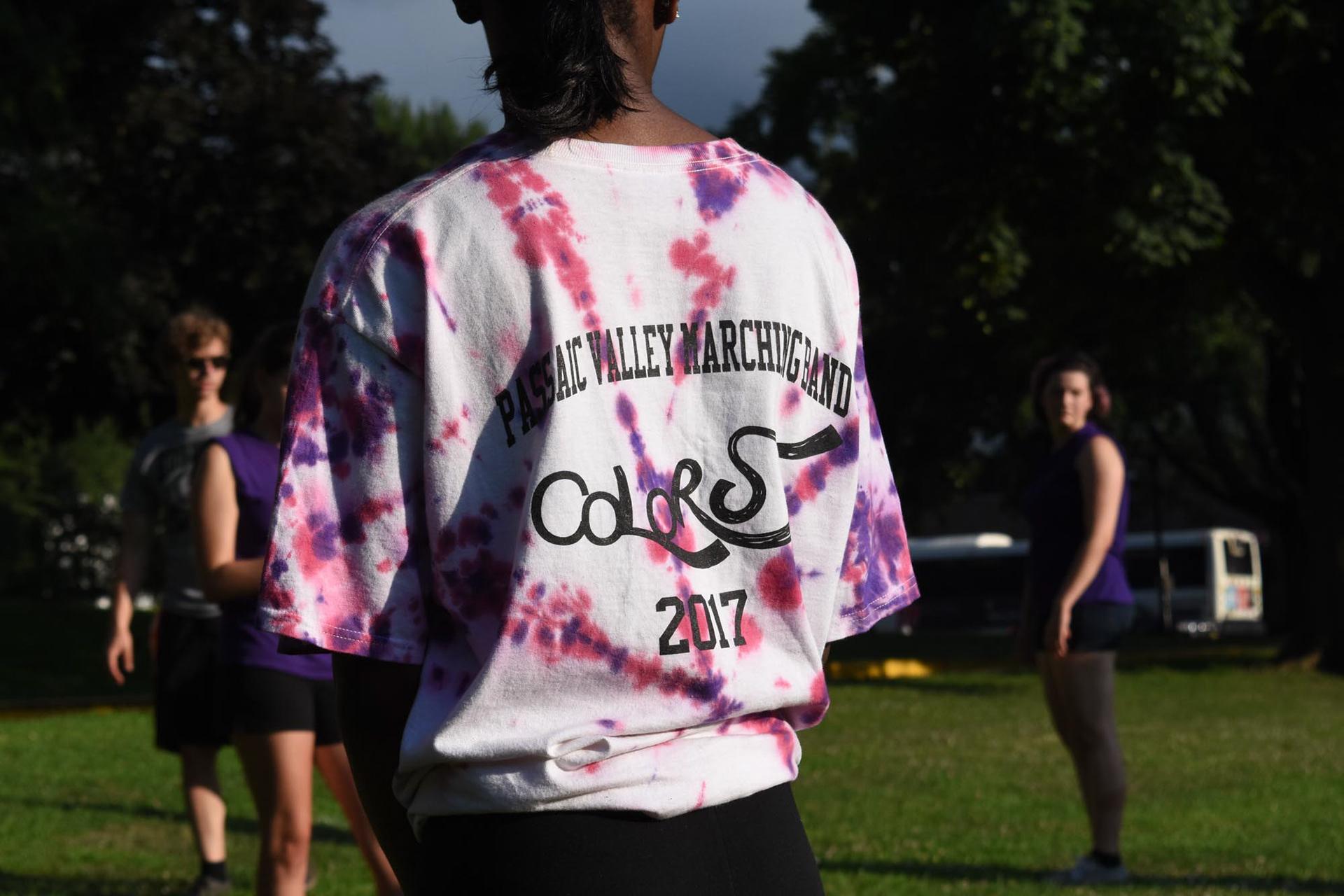 Erin Colgan Colors Marching Band T Shirt Logo