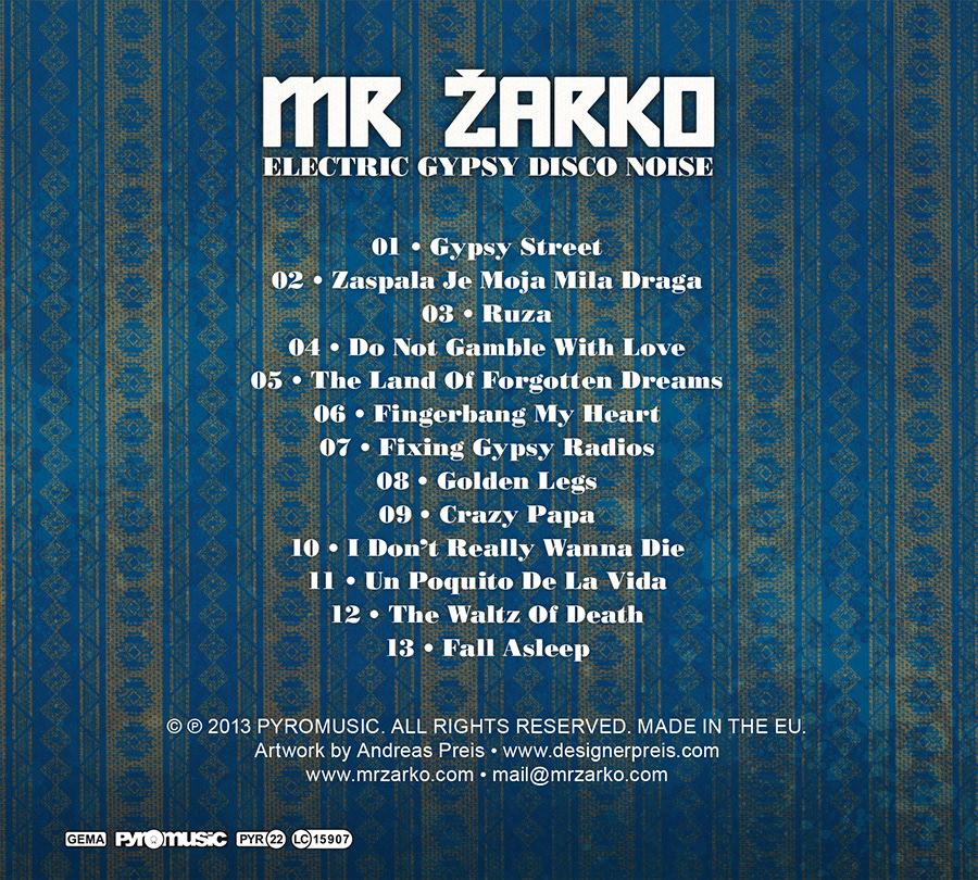 Andreas Preis - Mr Zarko // Album Artwork