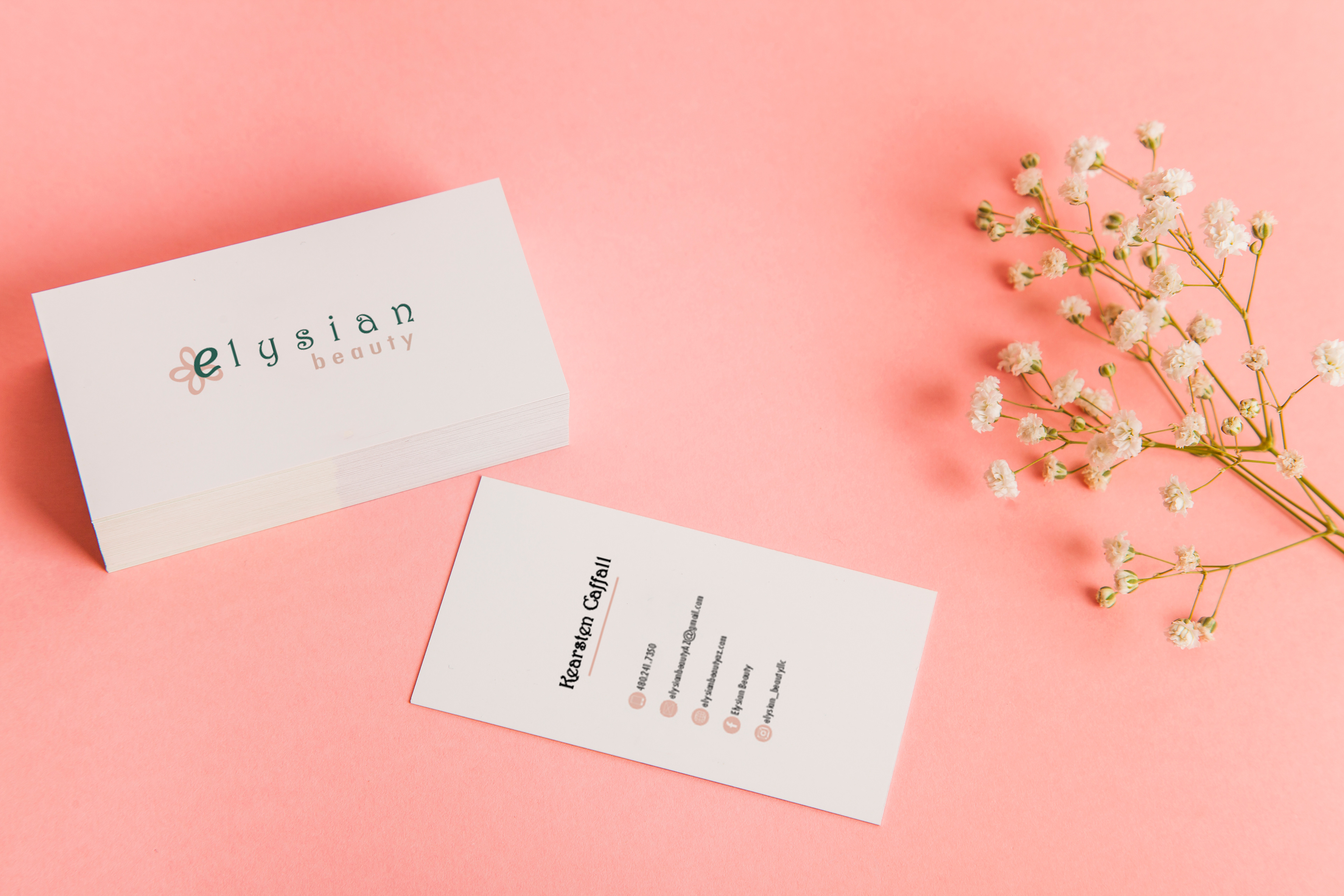 Brittany Del Bianco Elysian Beauty Business Cards