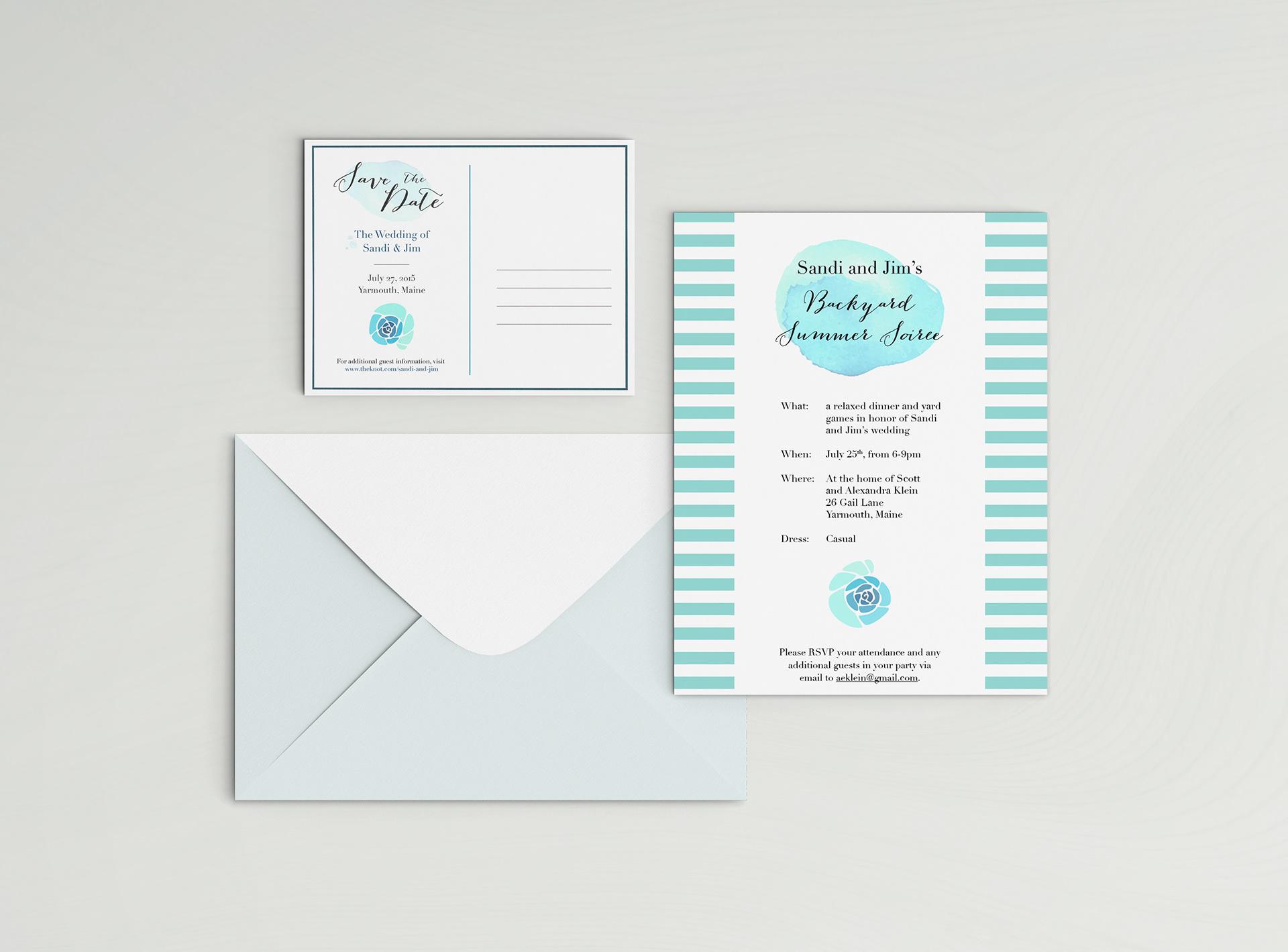 meaghan sandtorv design portfolio wedding reception invitation
