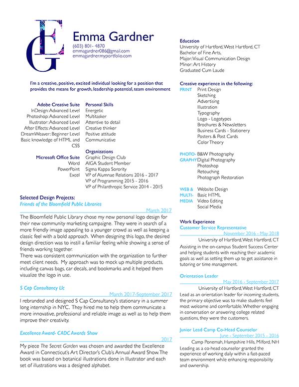 58dc9d7ca8d Emma Gardner - Resume