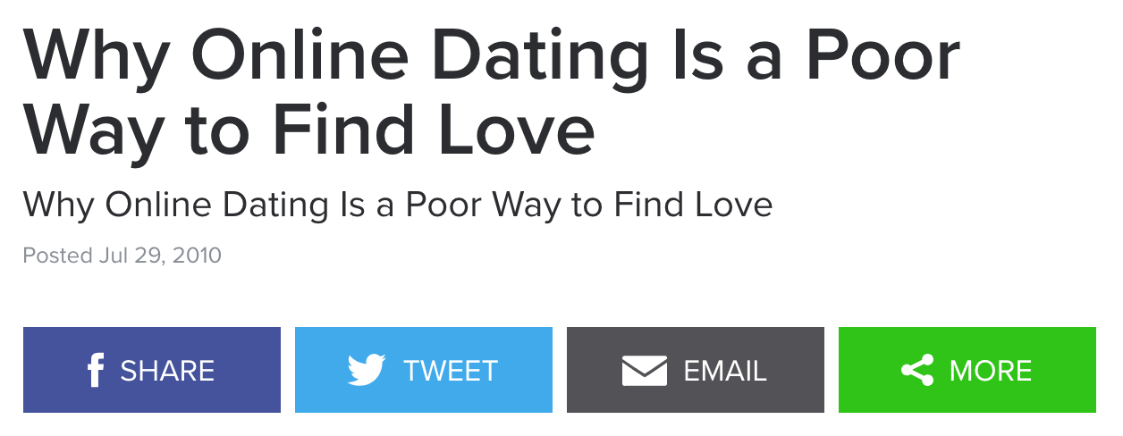 Kate Iselin writes: The difficulties of dating in Sydney.