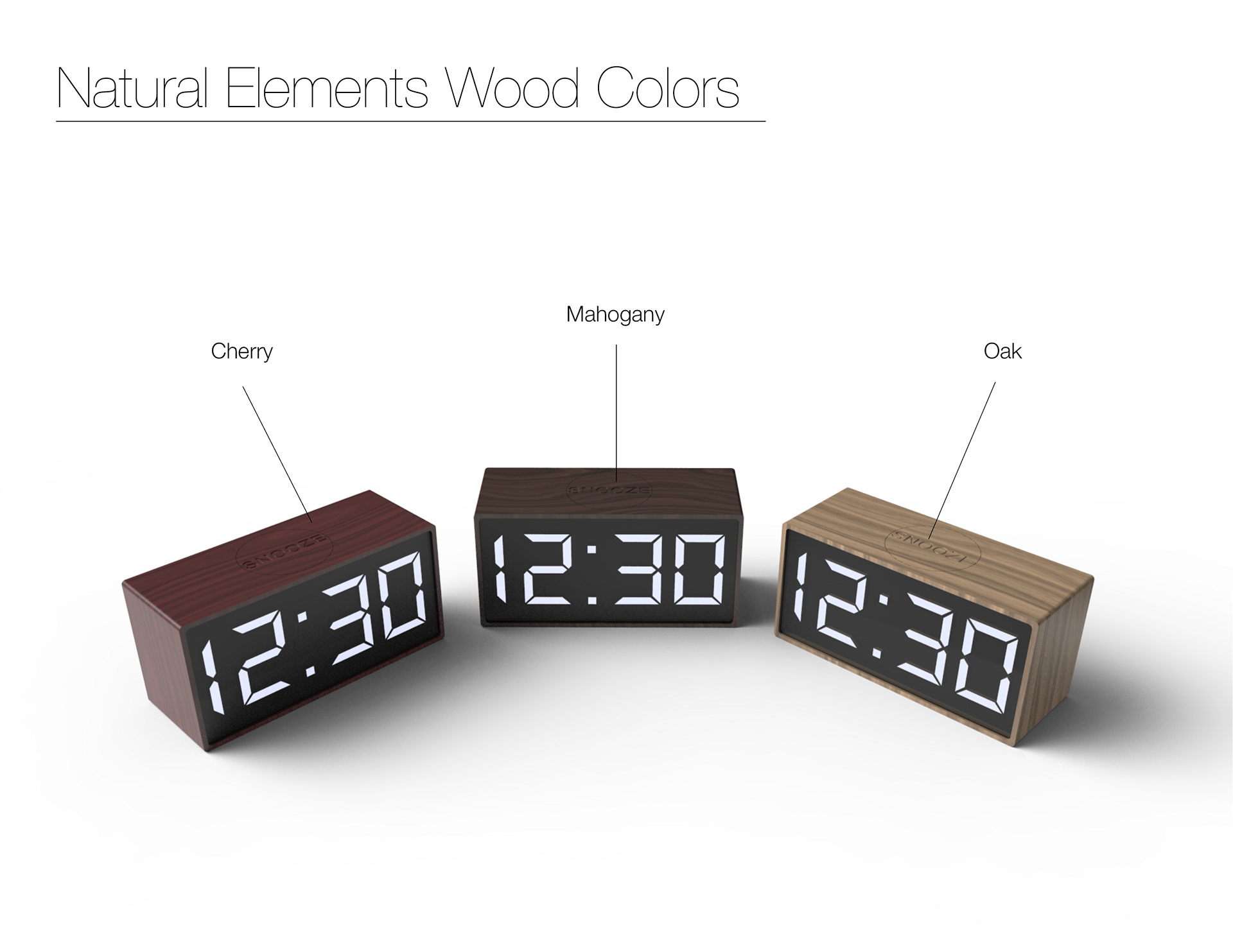 Minimal alarm clock all wood minimalist alarm clocks with white digital numbers the goal was to design a simple readable clock