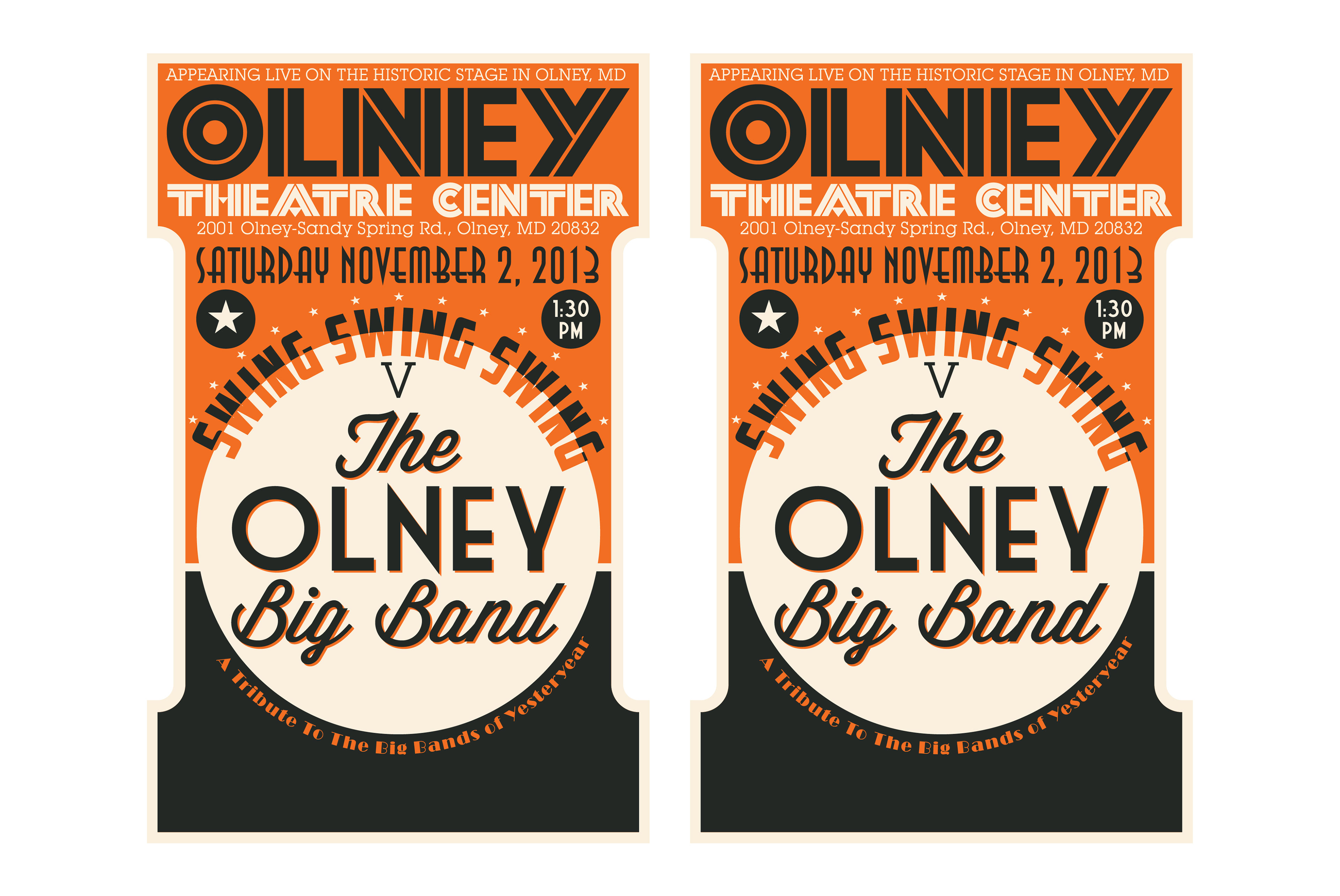 Poster design needed - Event Poster For The Olney Big Band At The Olney Theatre Center I Was Careful To Include All Of The Needed Information Without Overwhelming The The Vintage