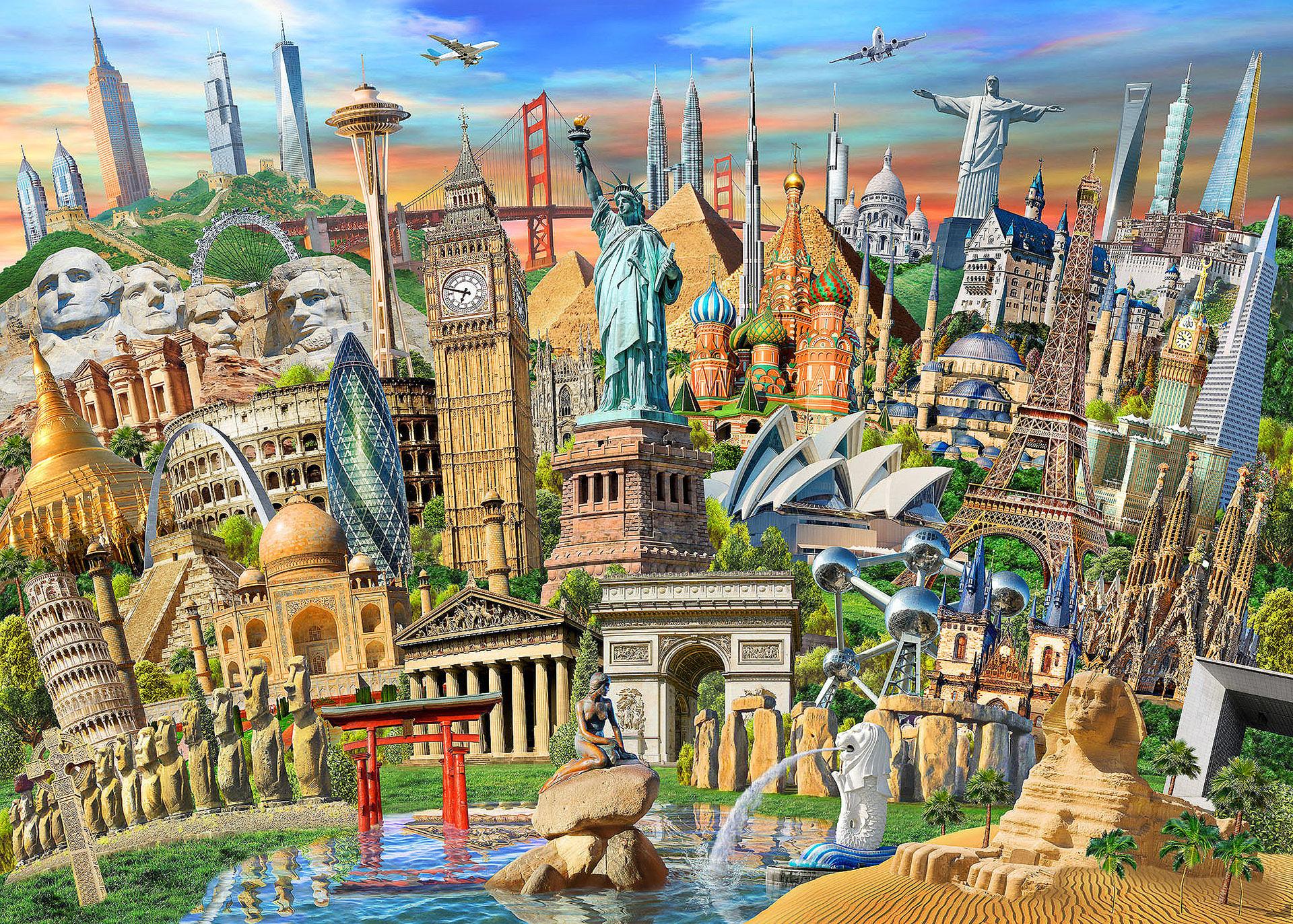 вязаной страна и город по картинке многомиллионный коллектив