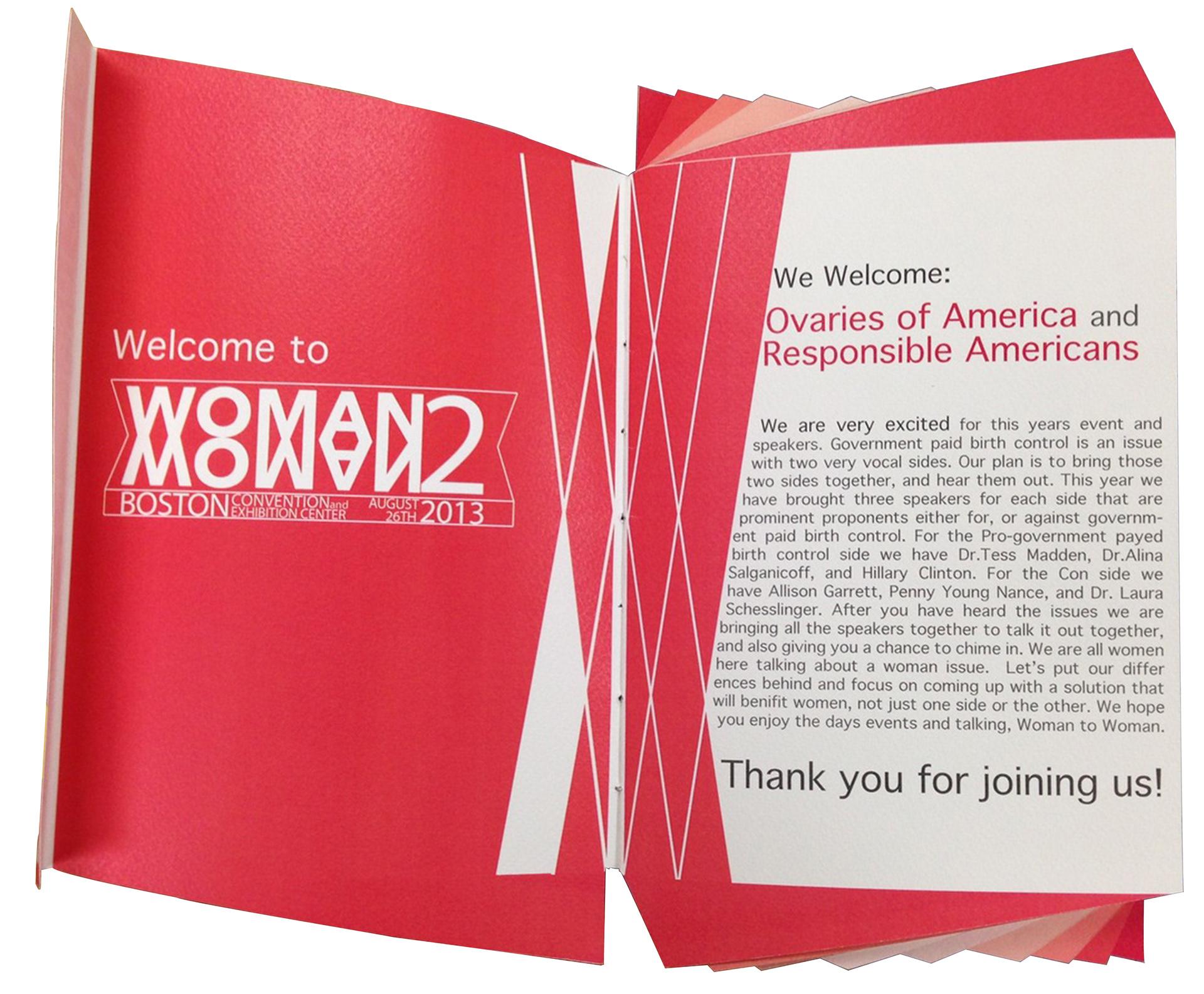 christina evans conference brochure design