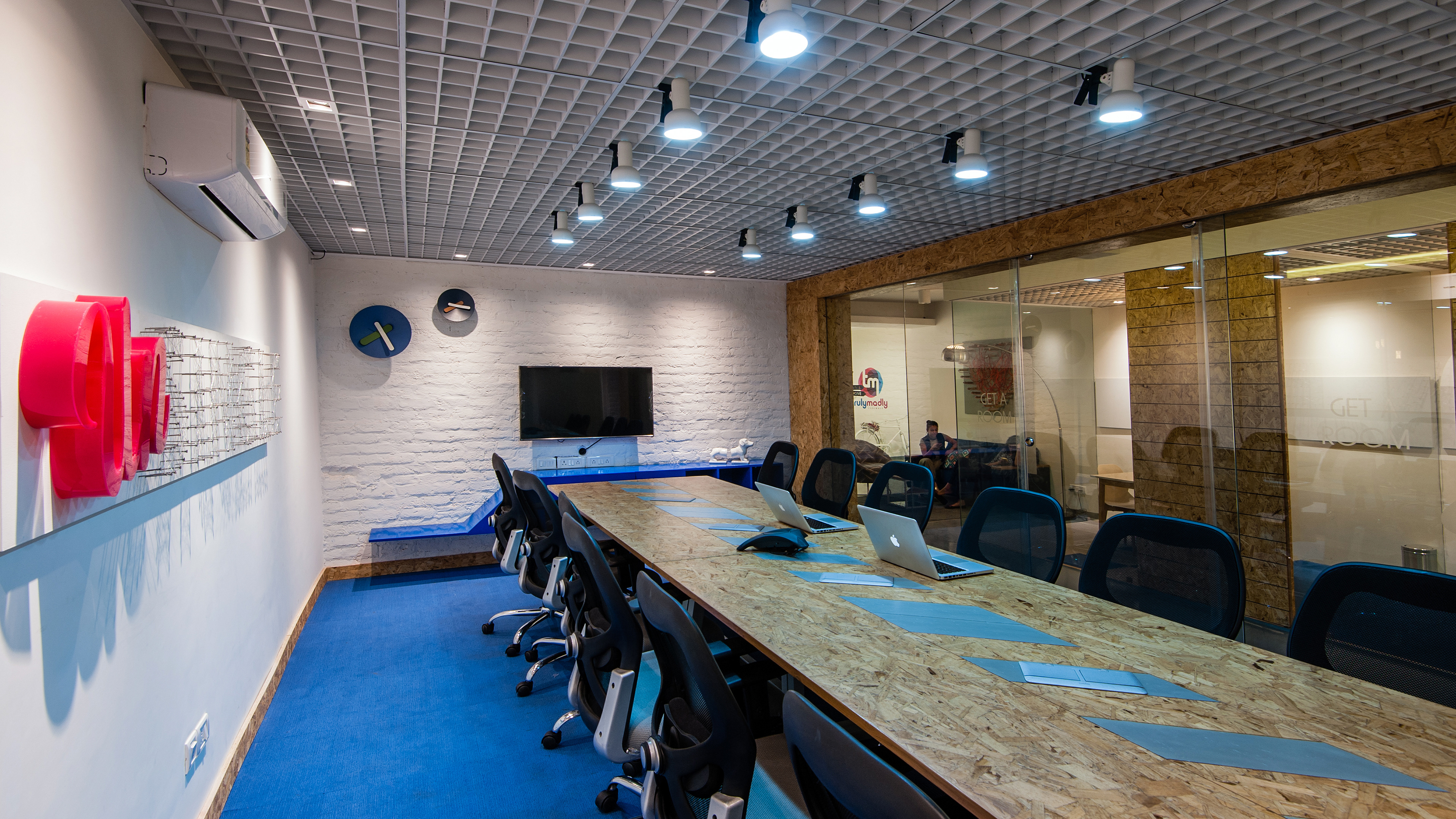 Sahej Bhatia Portfolio Truly Madly Officafe - 14 foot conference room table