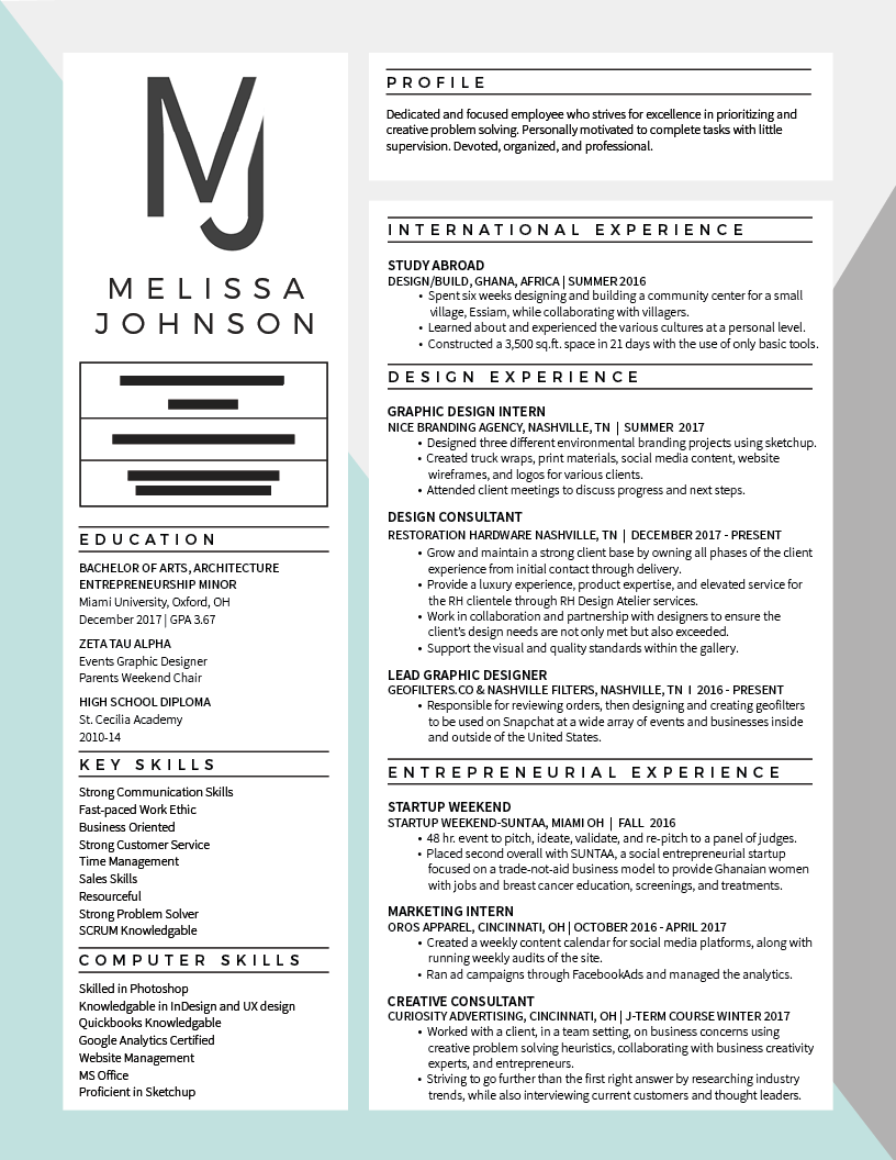 Melissa Johnson Resume