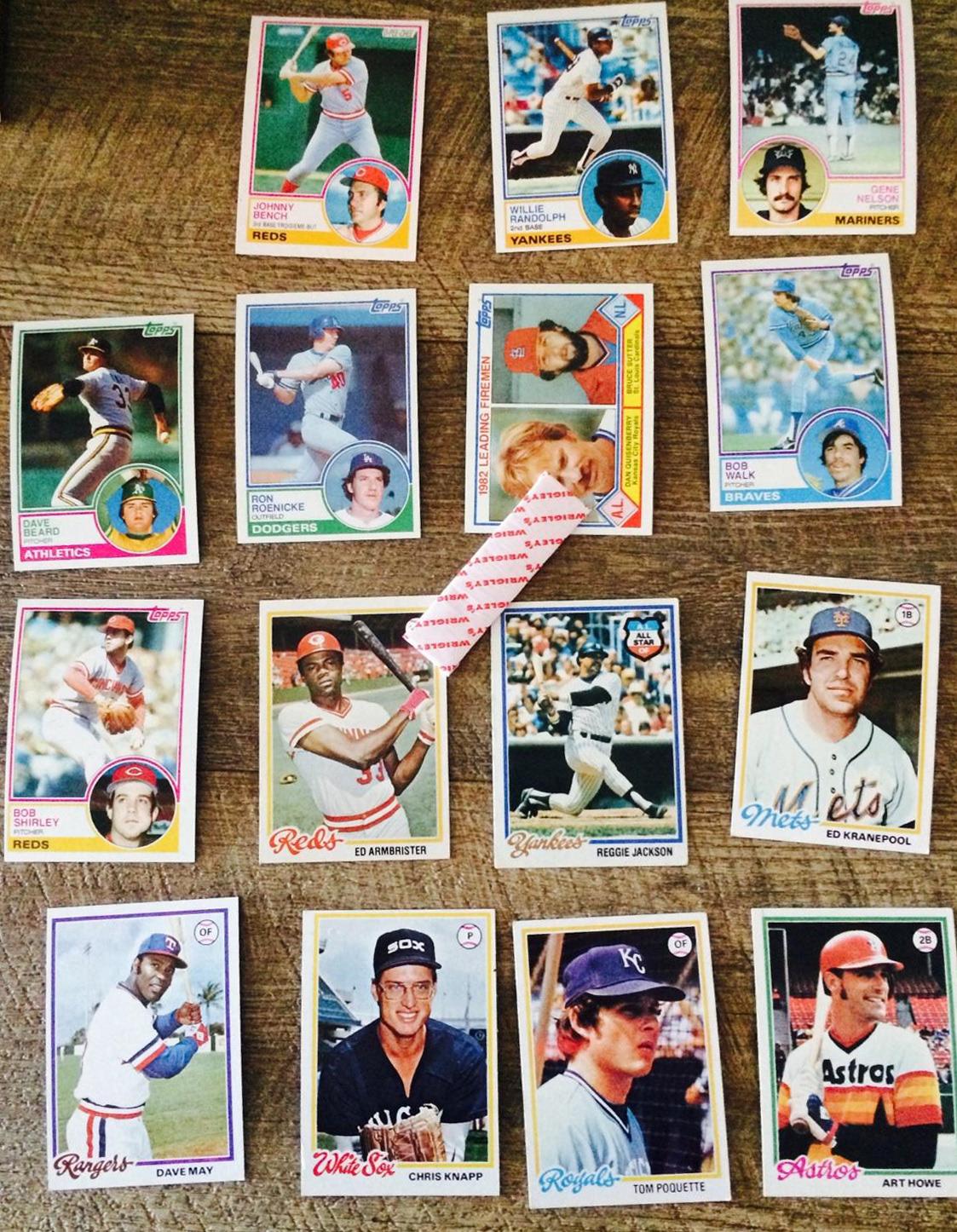 Jennifer Rozbruch Design Vintage Style Baseball Wax Packs