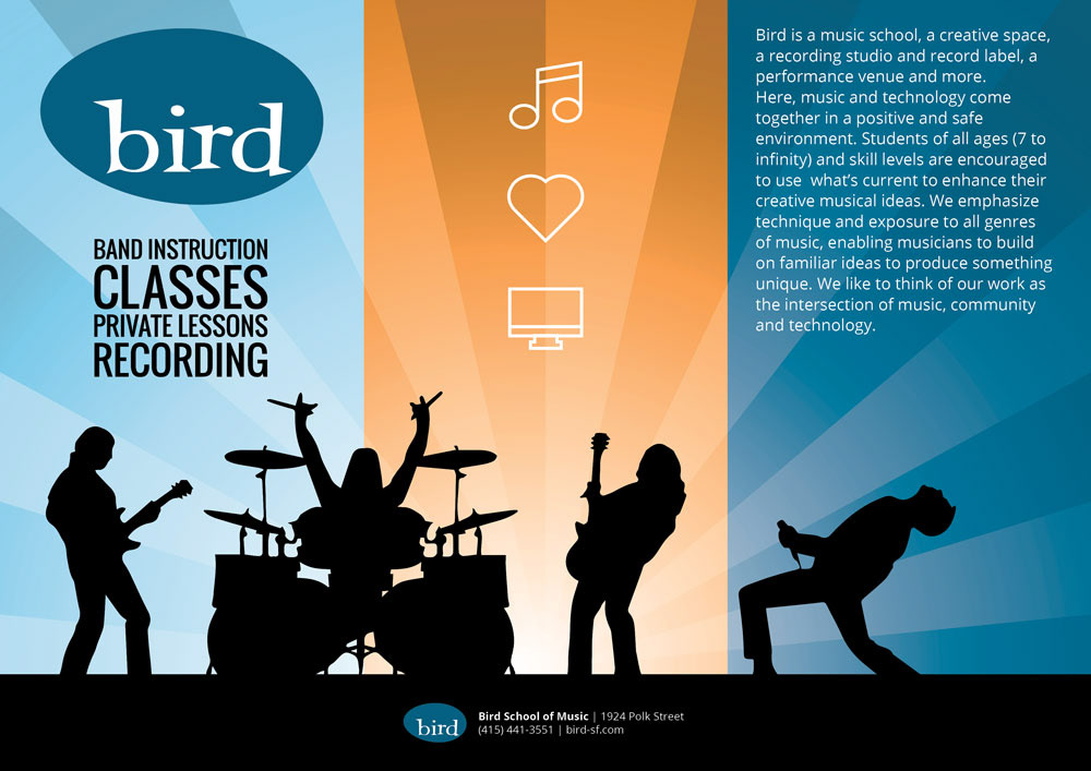 Matt Shea  Bird School Of Music Brochure