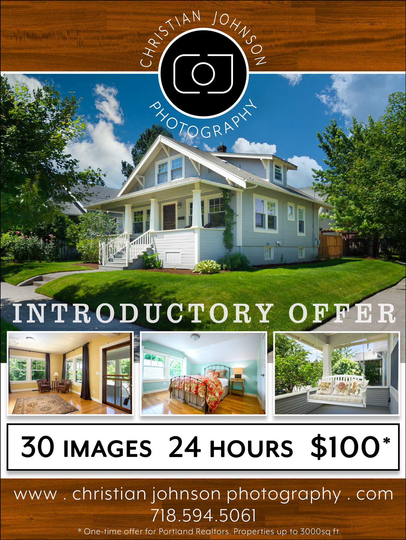 Christian Johnson Layout And Typography - Real estate photography flyer templates
