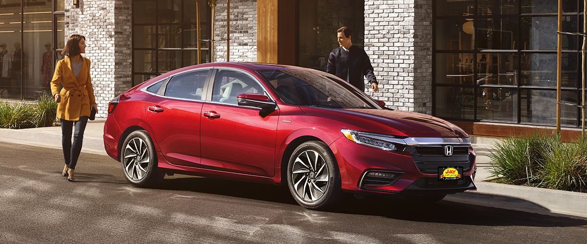 The All-New 2019 Red Honda Insight Hybrid Sedan at Jay Honda