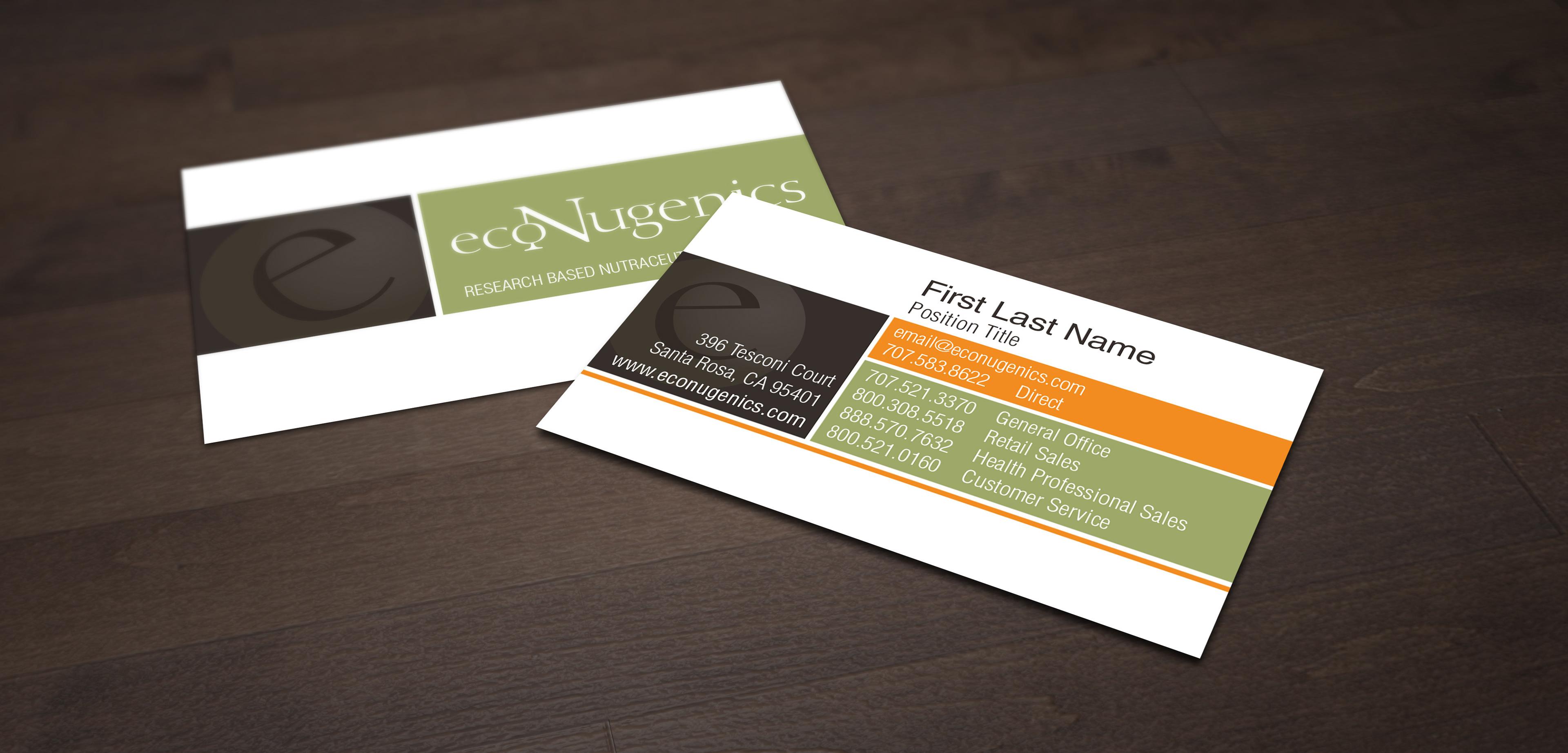 Rod Encarnacion - ecoNugenics - Business Card Re-Design