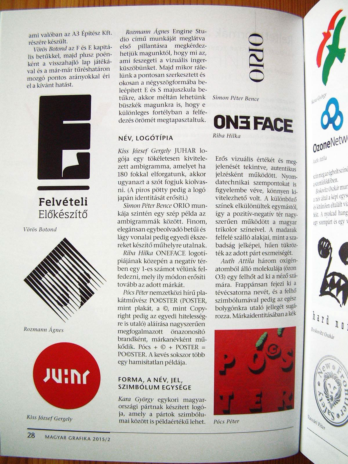 Poster design zeixs -  Oneface Logo Was Selected As An Illustration Of Hidden Shapes In Logo Design The Article Appeared In Magyar Grafika
