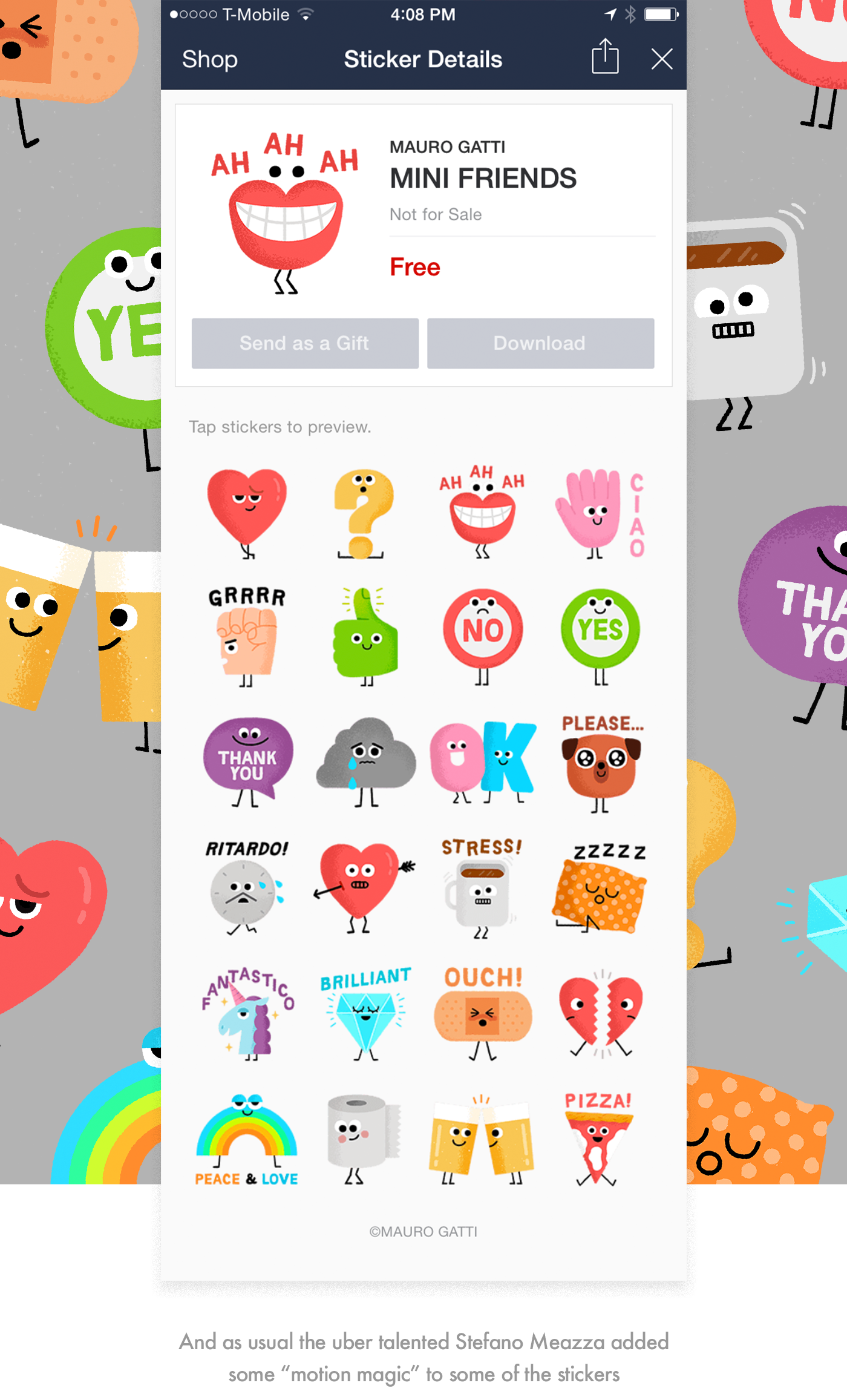 line app how to send sticker gift
