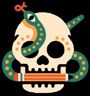 Erikas Chesonis Skull & Snake Logo