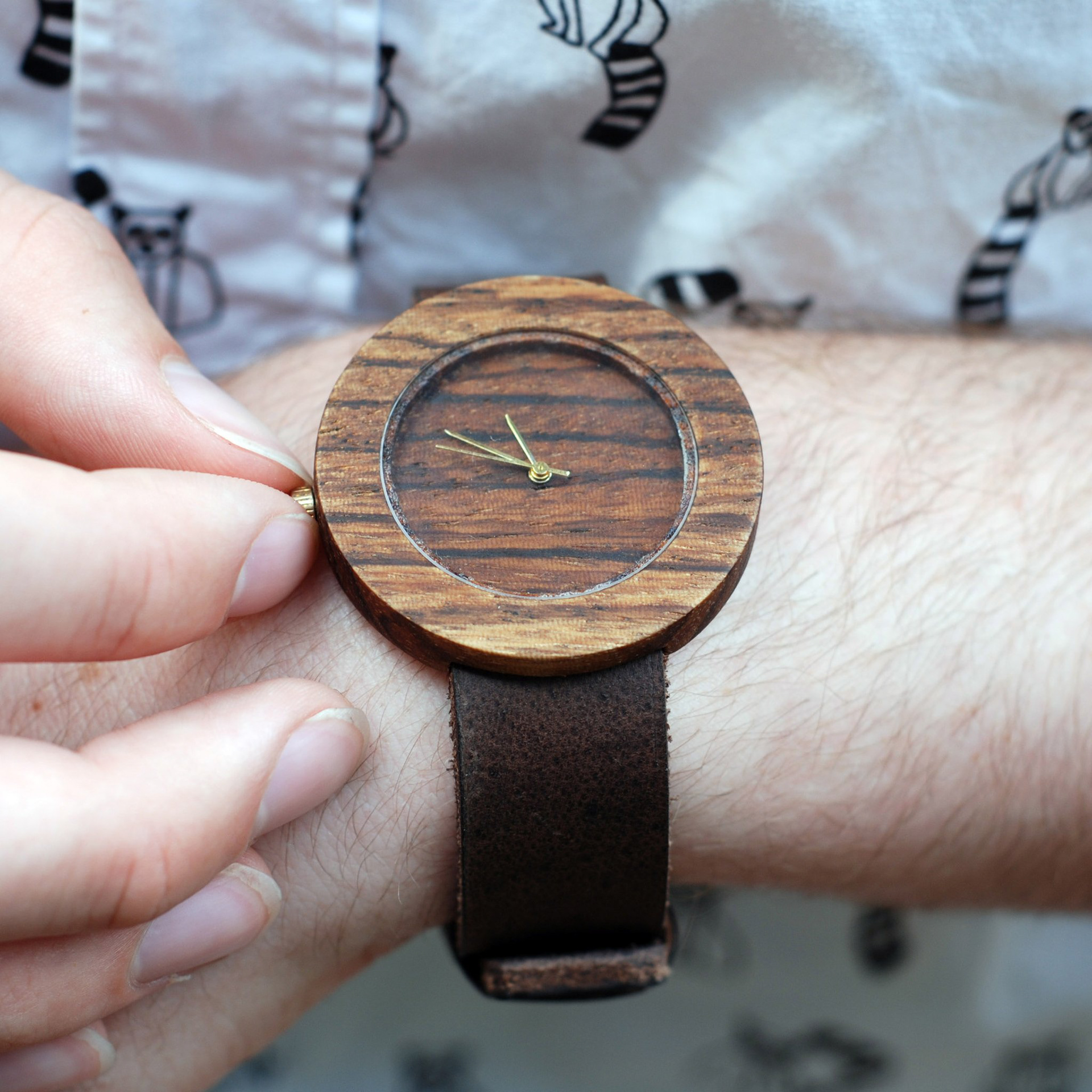 ebony watch and custom unique buy koa wood handmade by ambici watches mens made