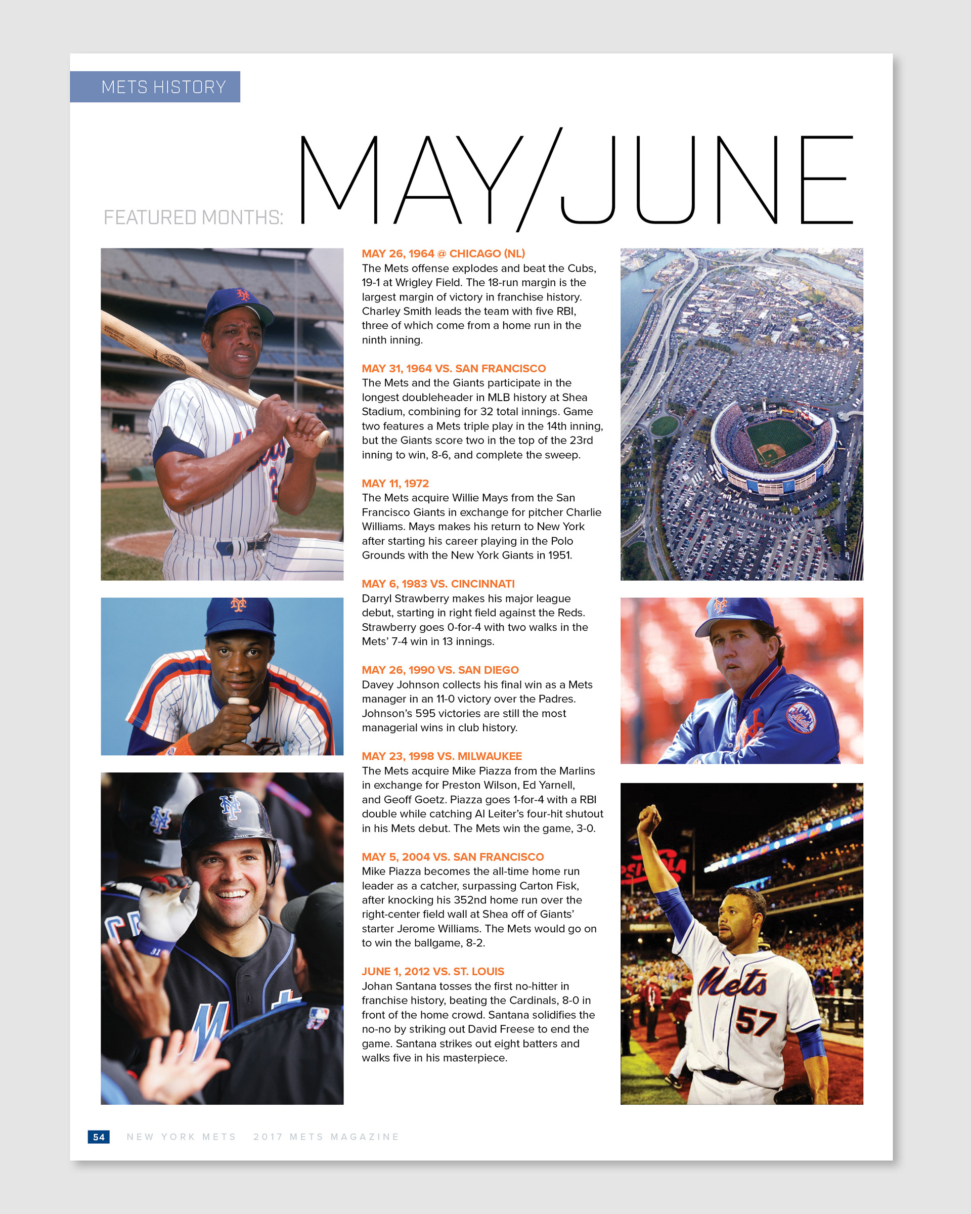 One Page Spreads From Various Issues Of Mets Magazine 2017